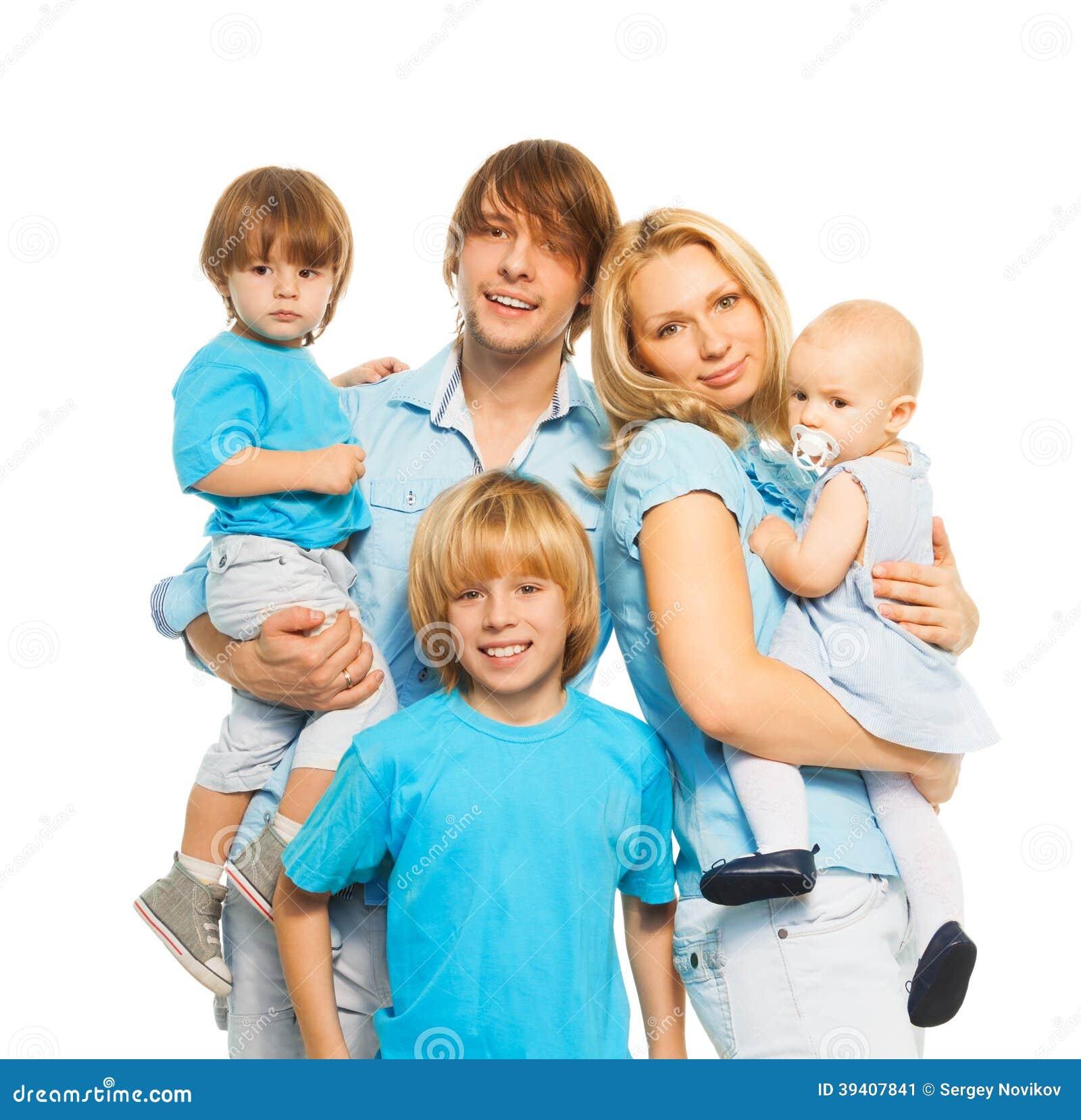 Beautiful Parents Cute Kids Stock Image - Image of ...