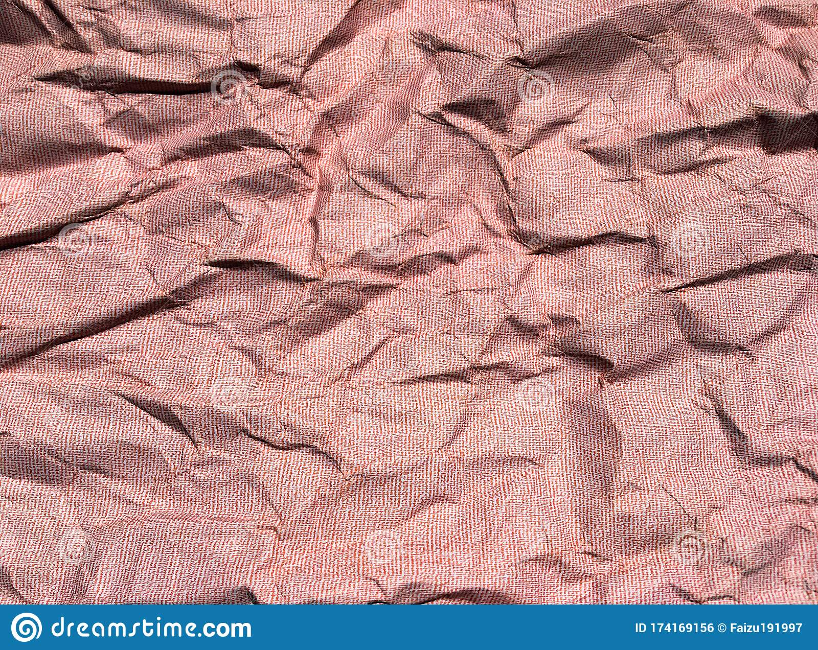 Beautiful Pattern Of Red Crumpled Paper Texture Background Stock Photo Image Of Design Background 174169156