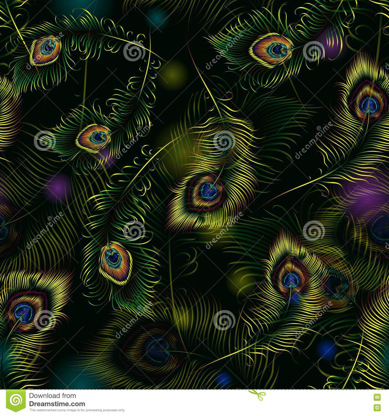 vector abstract peacock seamless - photo #19