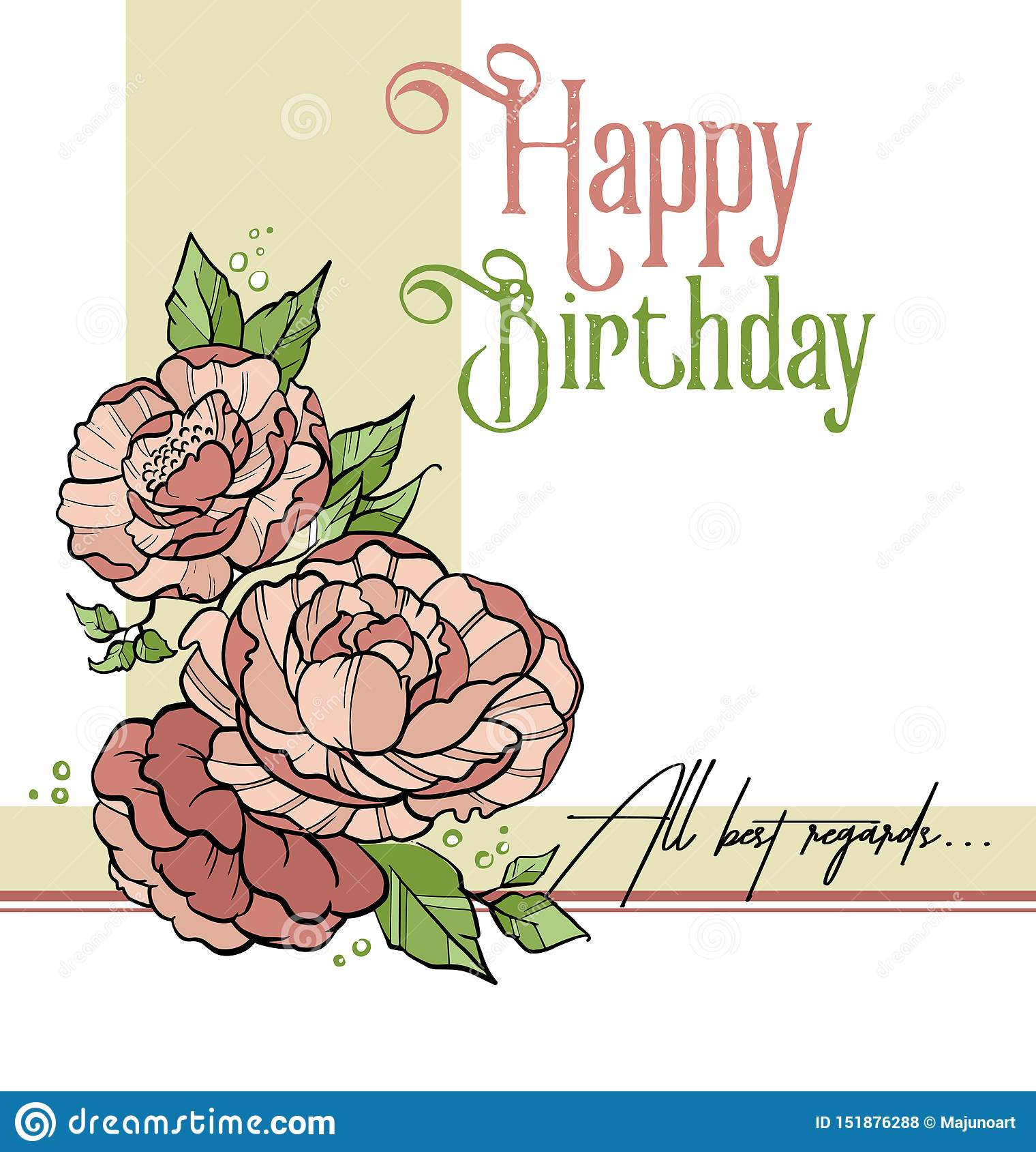 Birthday flycard