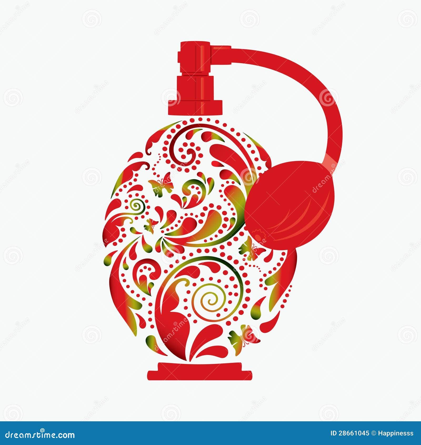 Beautiful perfume bottle stock vector image of fresh - Botellas para perfumes ...