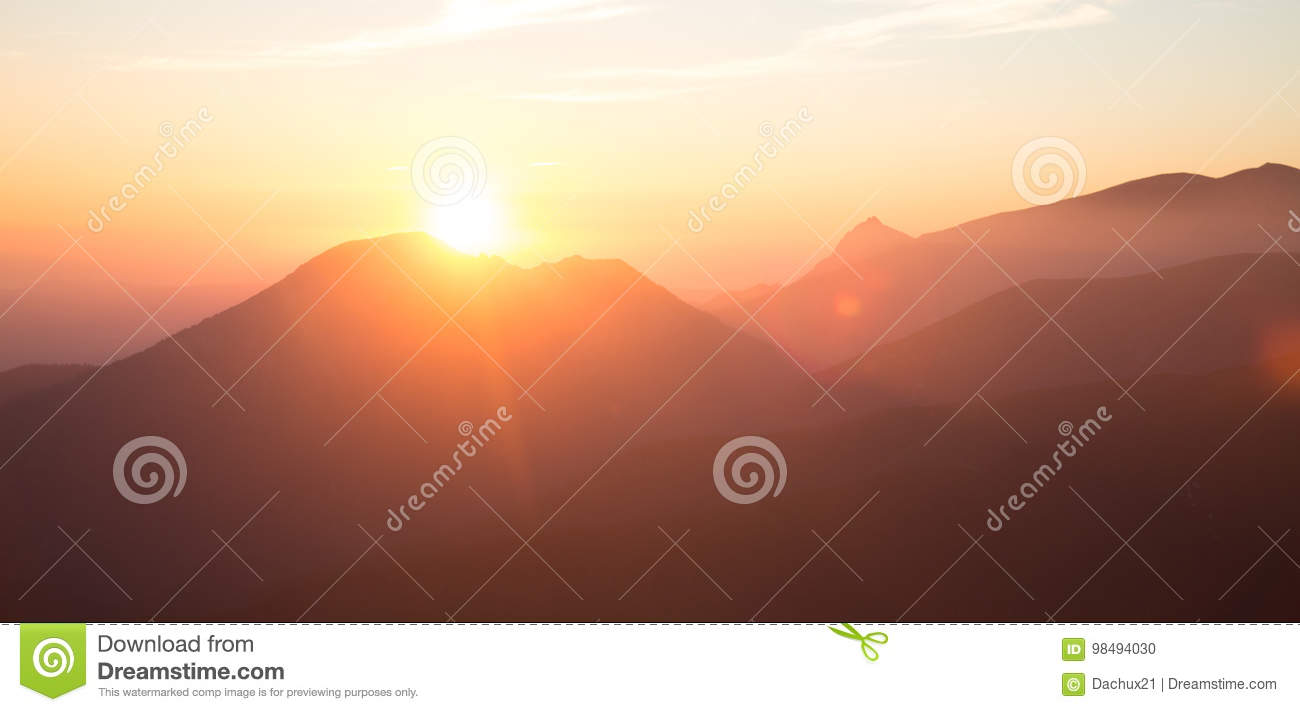 A beautiful perspective view above mountains with a gradient