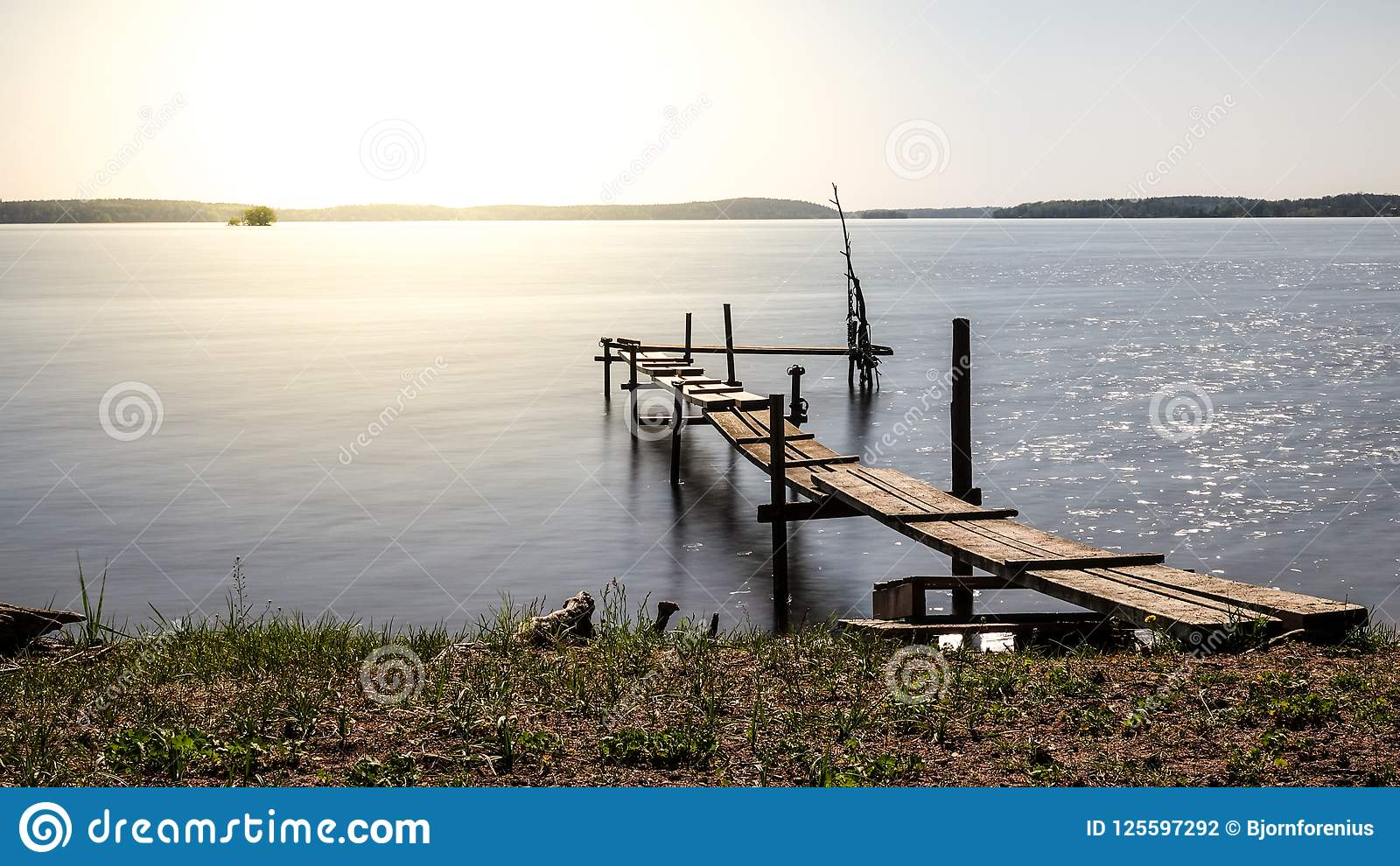 Beautiful Picture On A Small Jetty Bridge / Pier In A Lake ...
