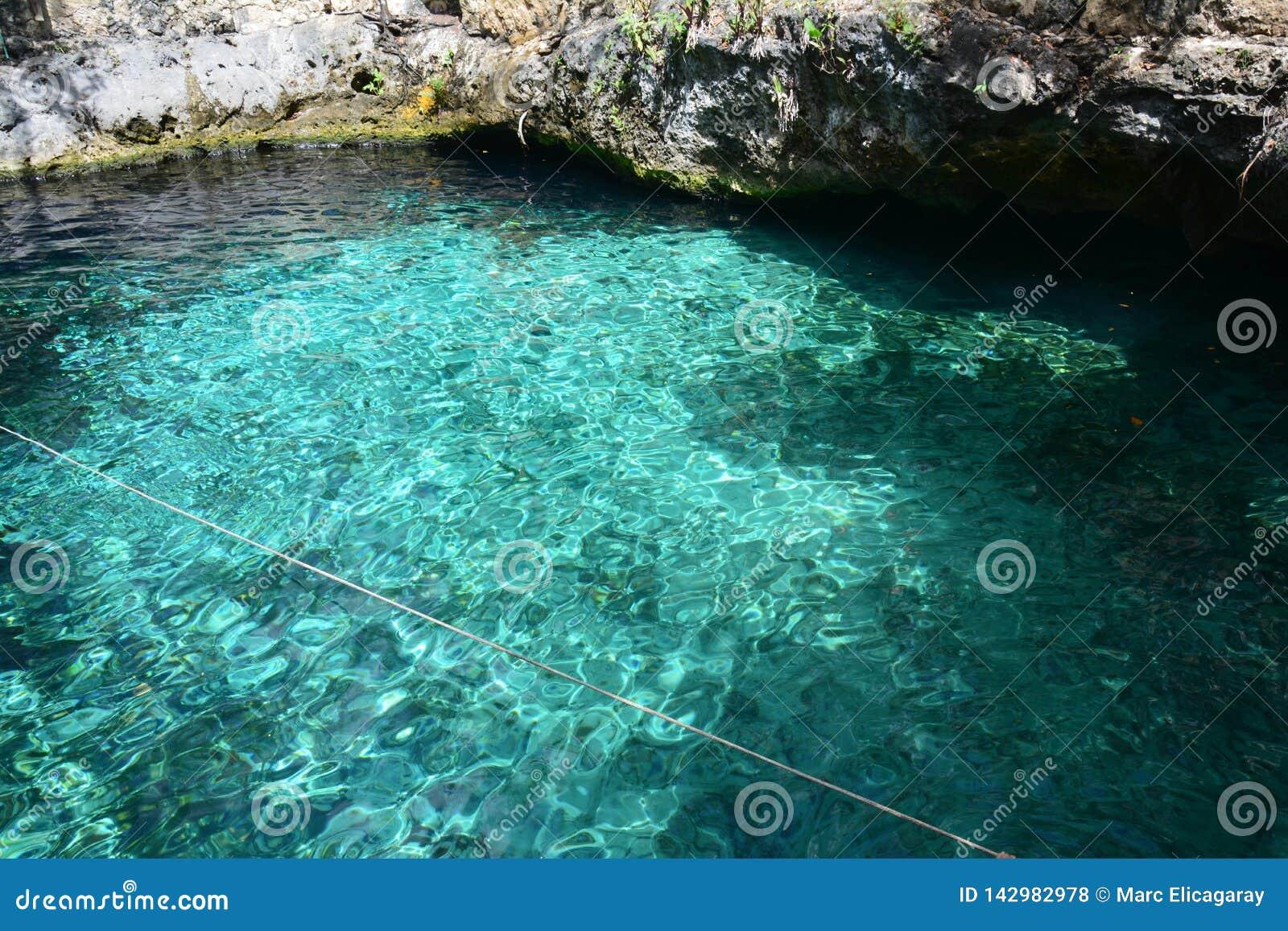 Cenote Zacil Ha near Tulum Mexico