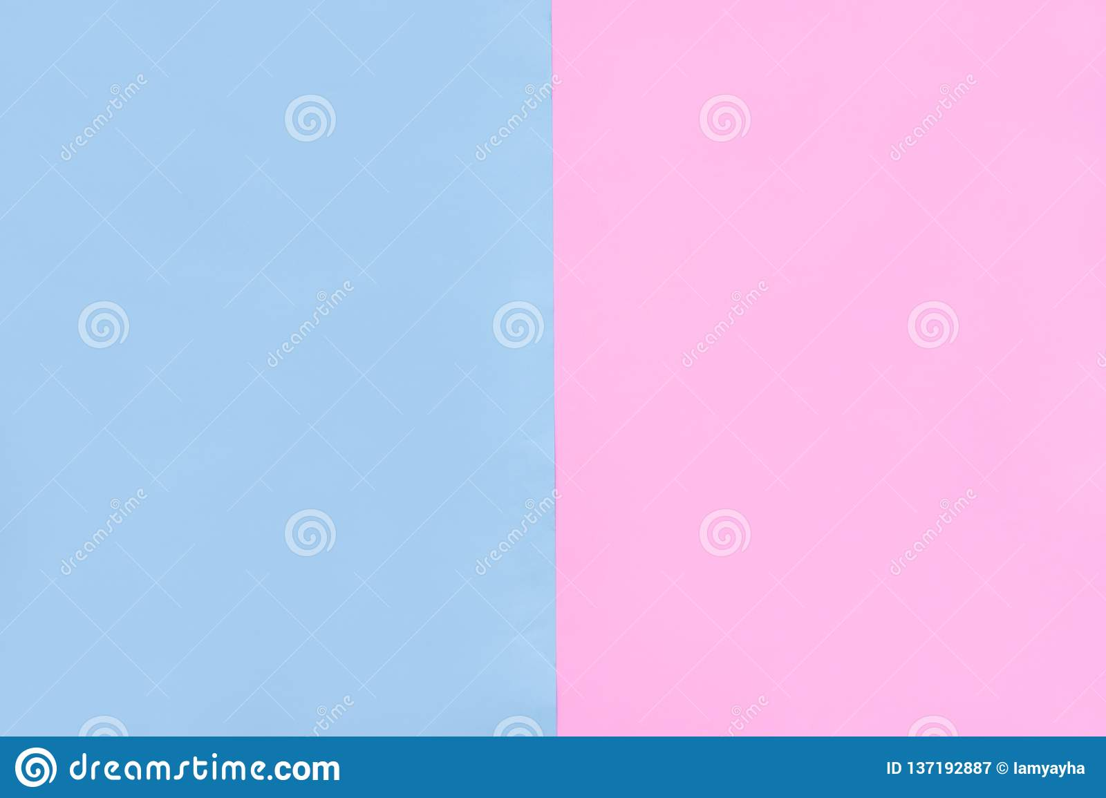 Beautiful Pink And Blue Pastel Color Paper Texture Empty Flat