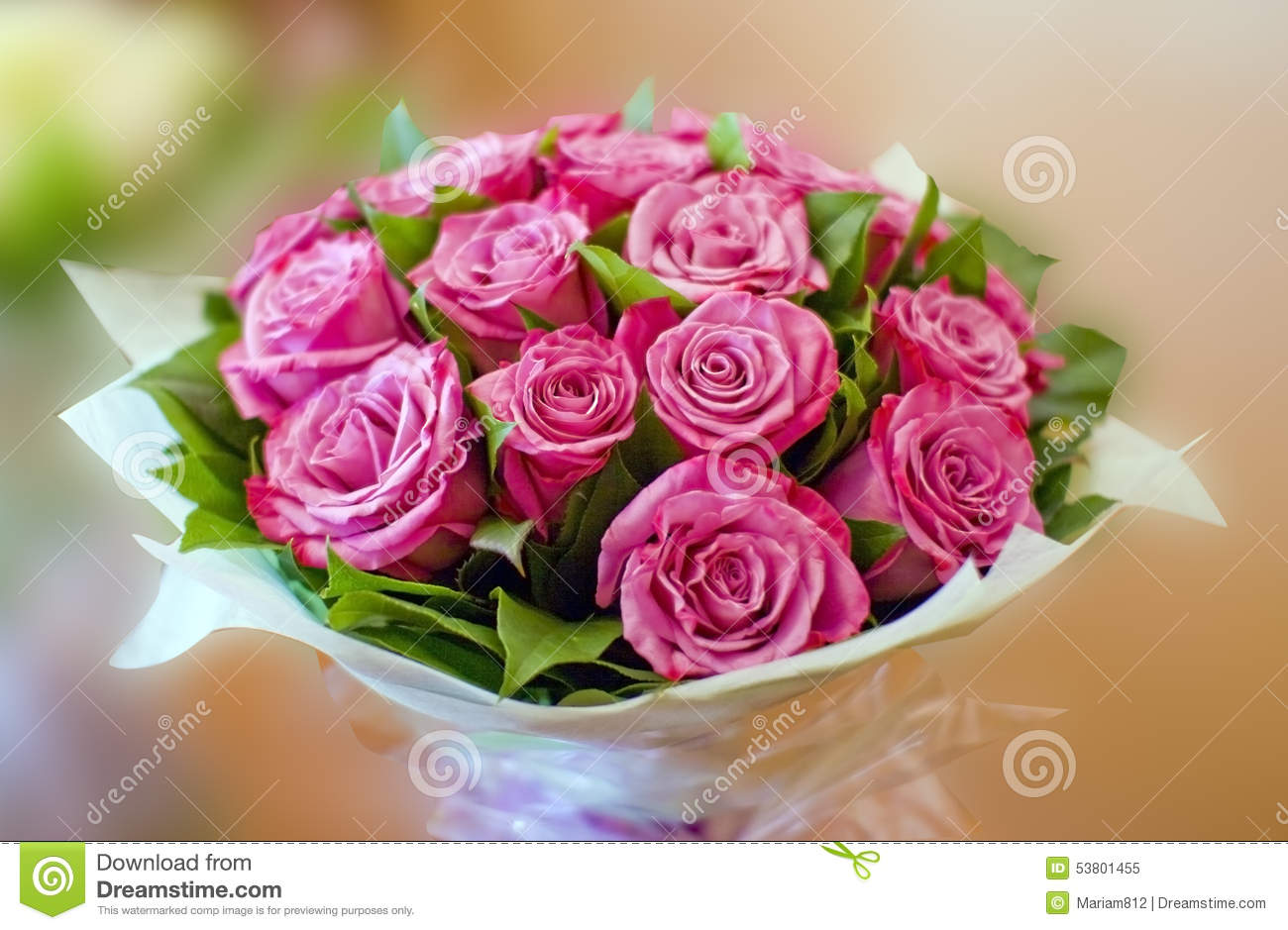 Beautiful Pink Roses Bouquet Stock Image Image Of Nature Petals