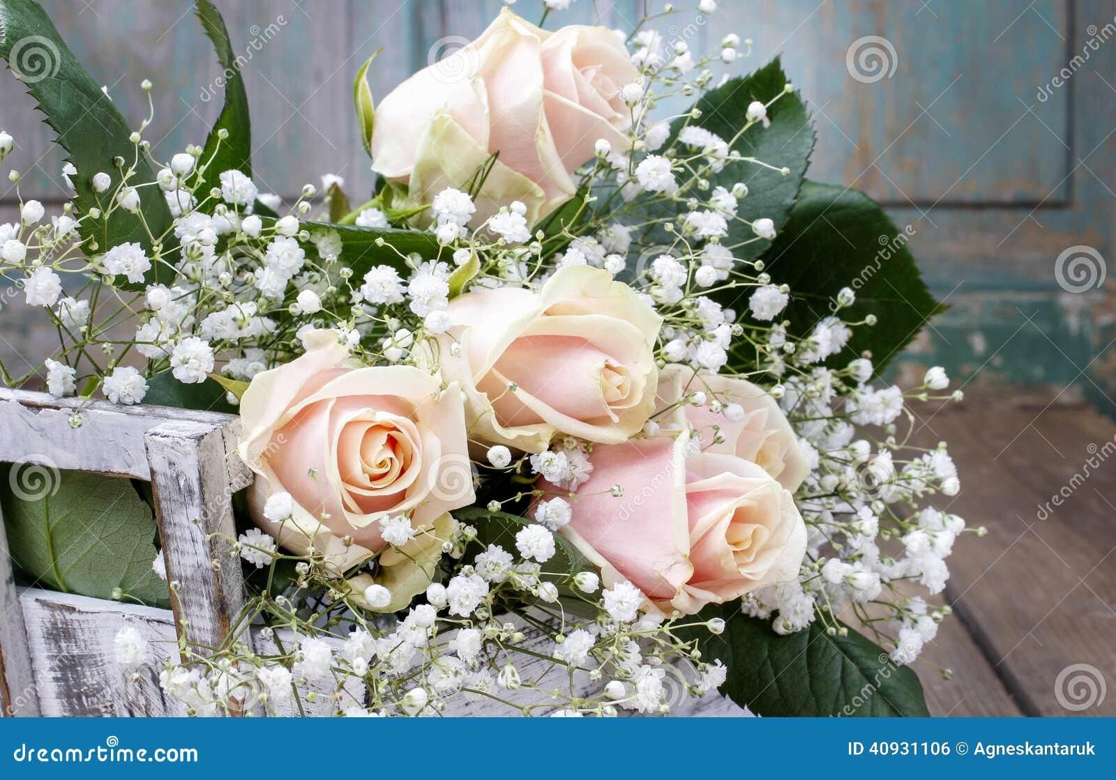 Beautiful pink roses and gypsophila paniculata babys breath stock download beautiful pink roses and gypsophila paniculata babys breath stock photo image of izmirmasajfo