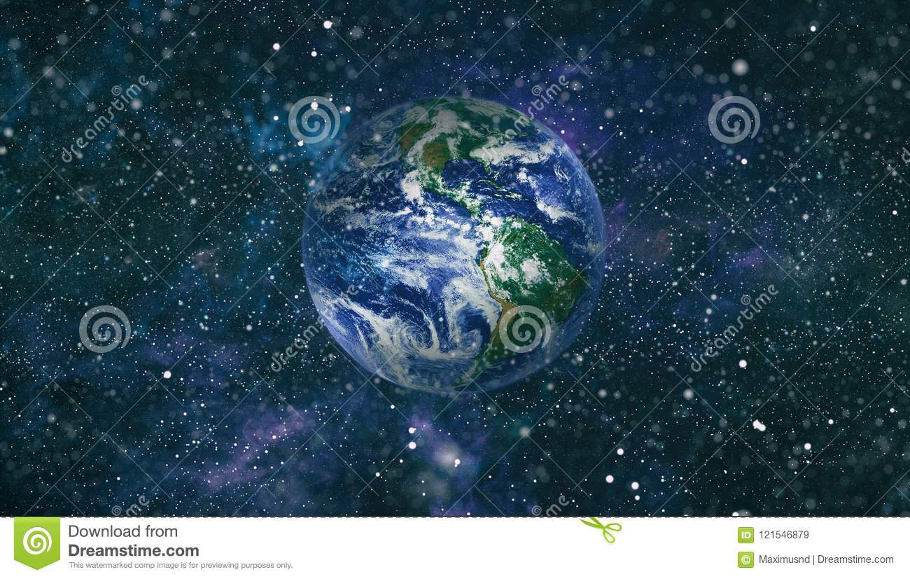 Beautiful Planet Earths Earth Sun And Galaxy Elements