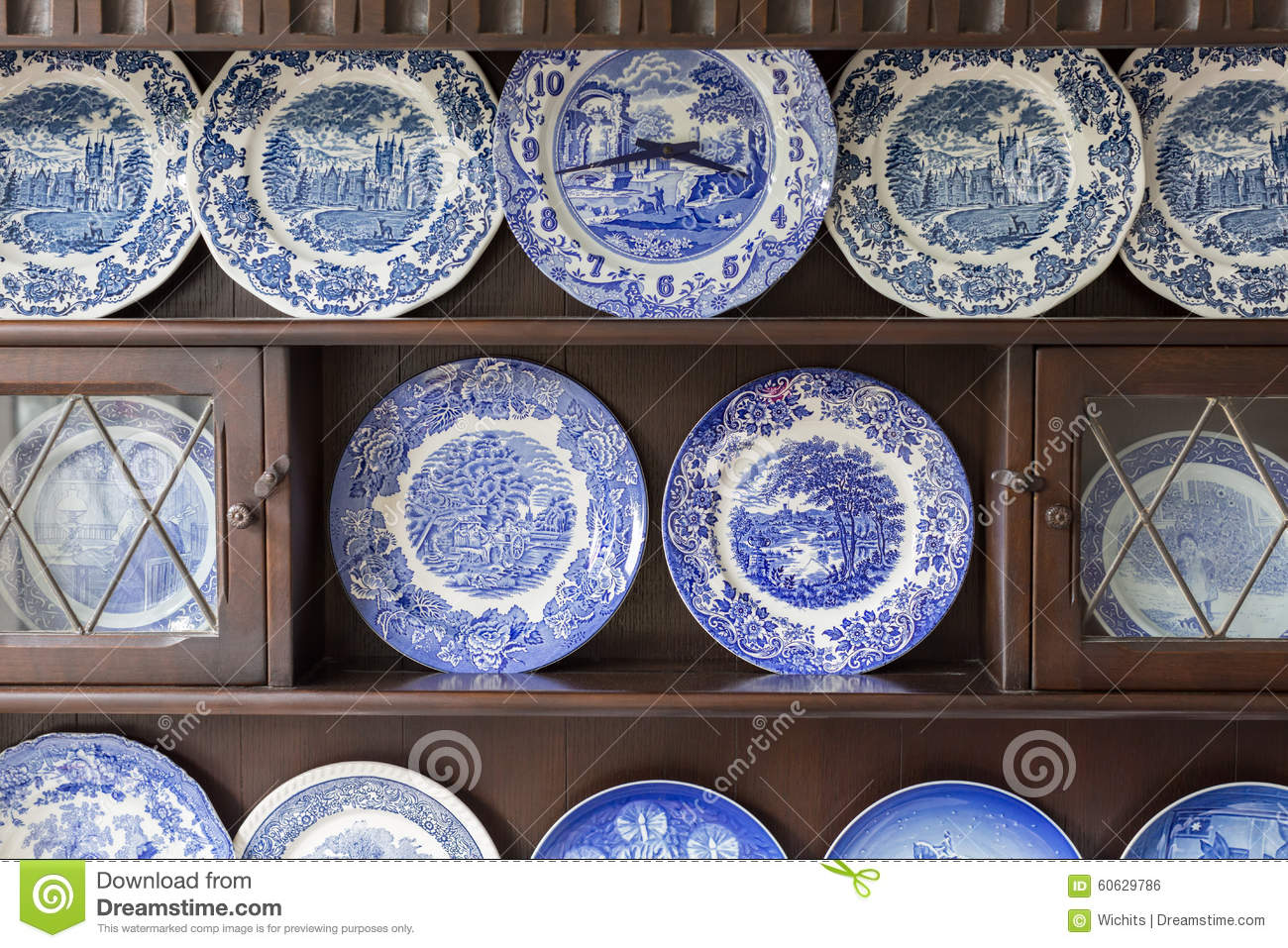 Beautiful Plate Collection Stock Photo Image 60629786