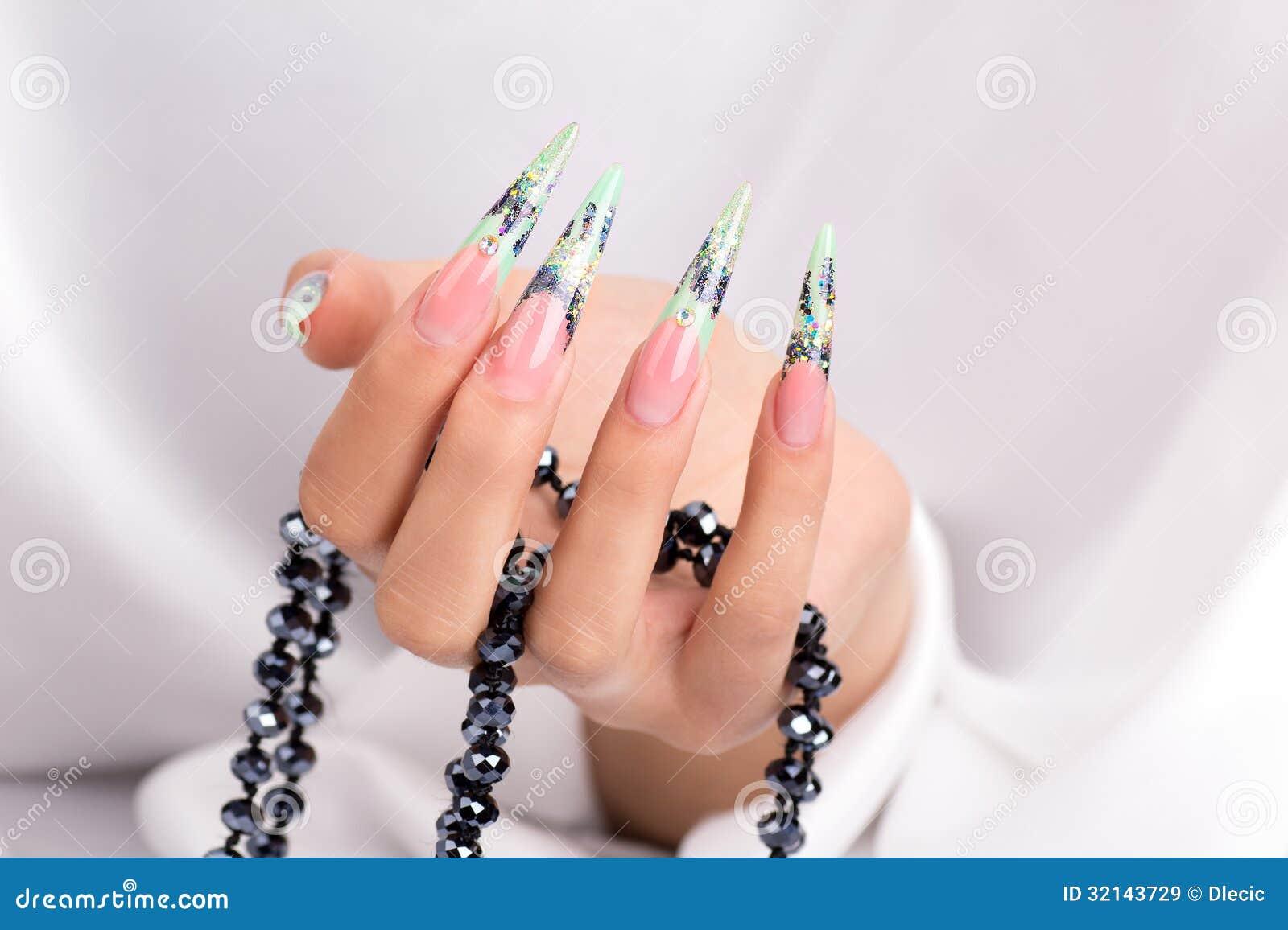 Beautiful Polished Nails Stock Image Image Of Event 32143729