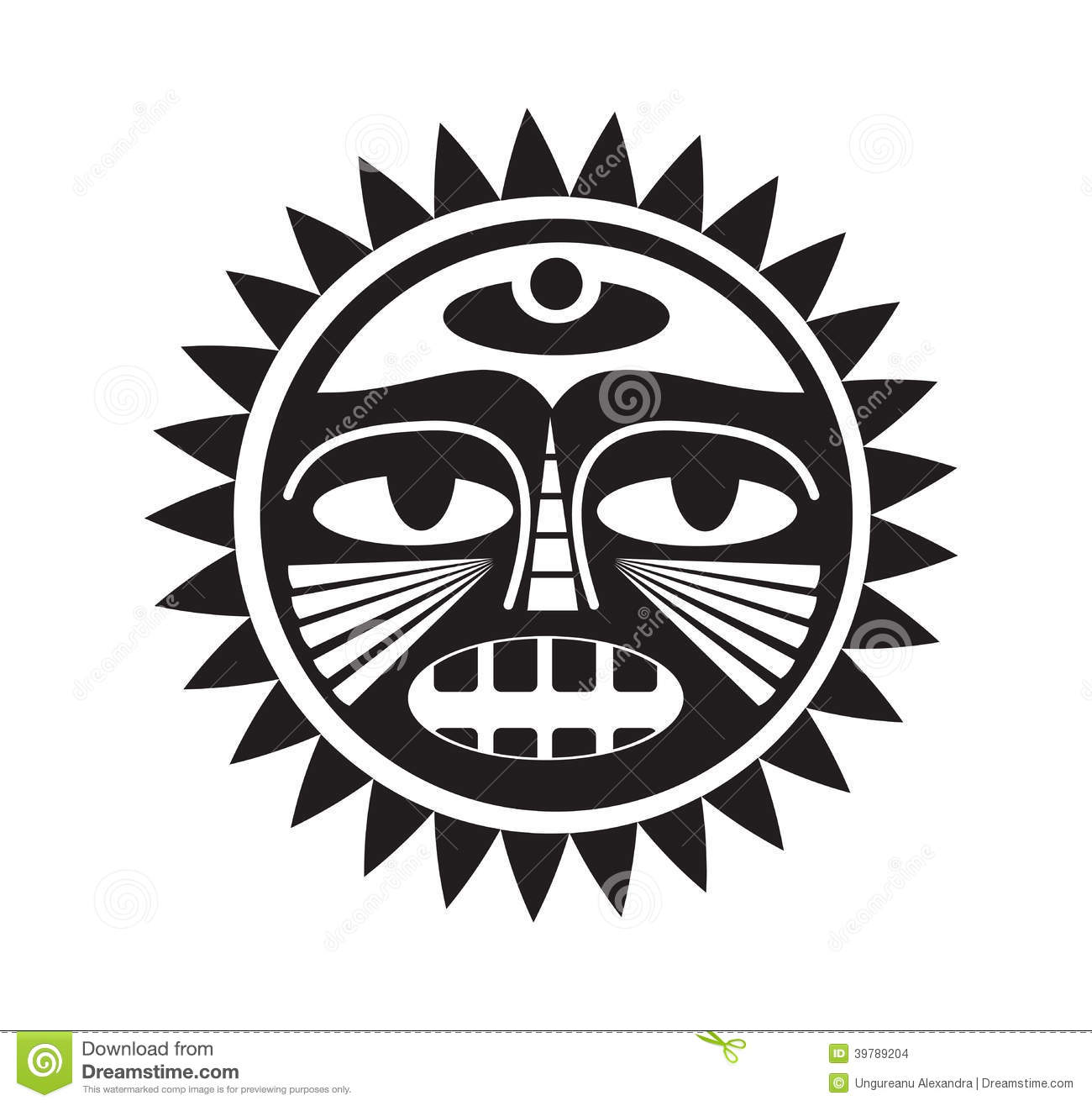 Beautiful Polynesian Style Tattoo Stock Vector Image