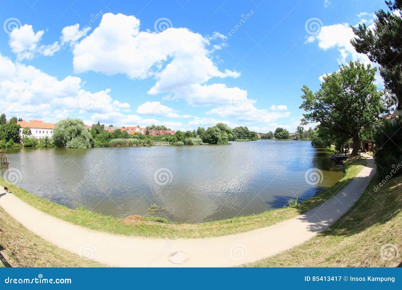 Beautiful Pond in Telc, Czech Republic
