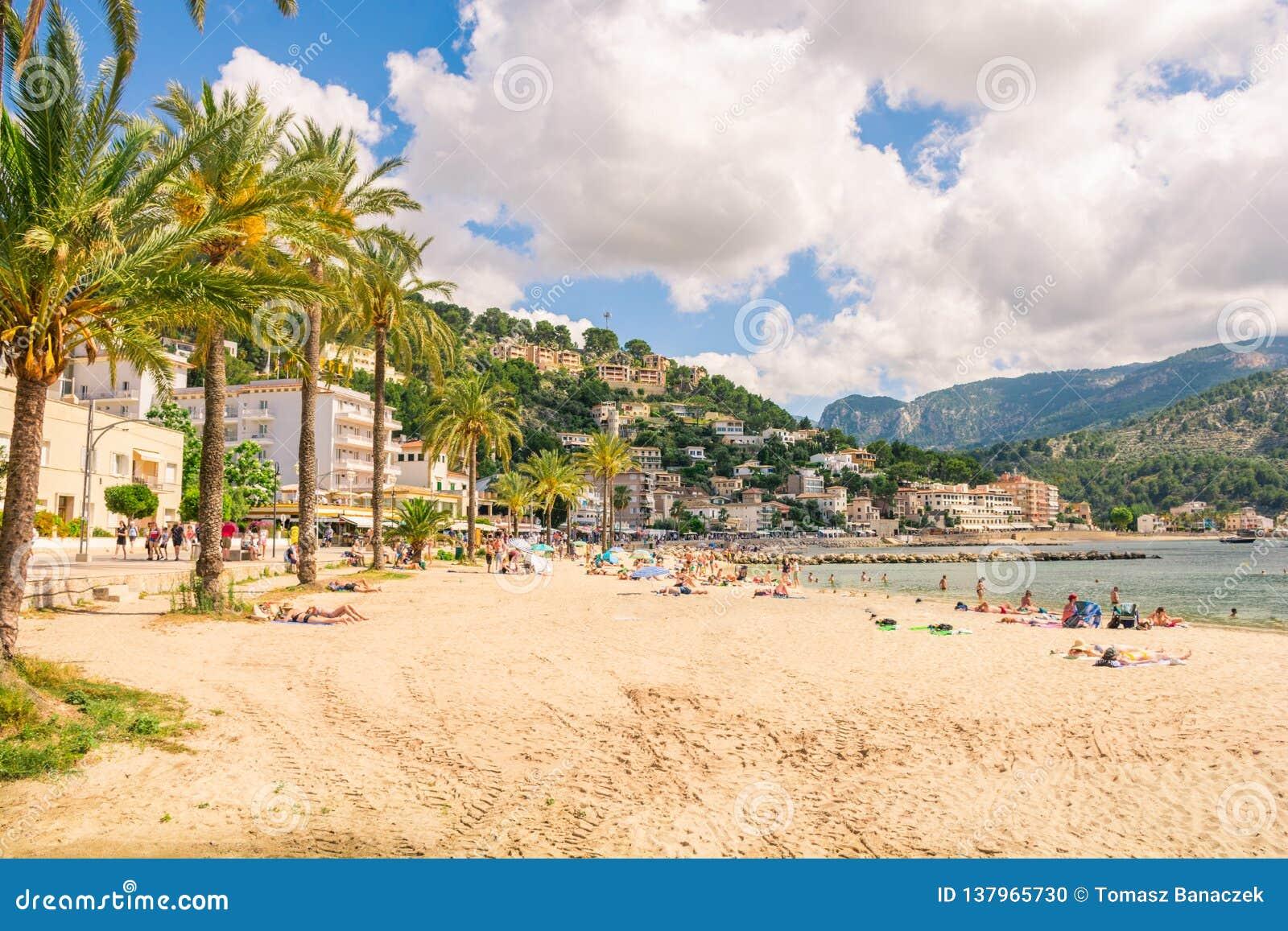 Beautiful Port de Soller in Mallorca.