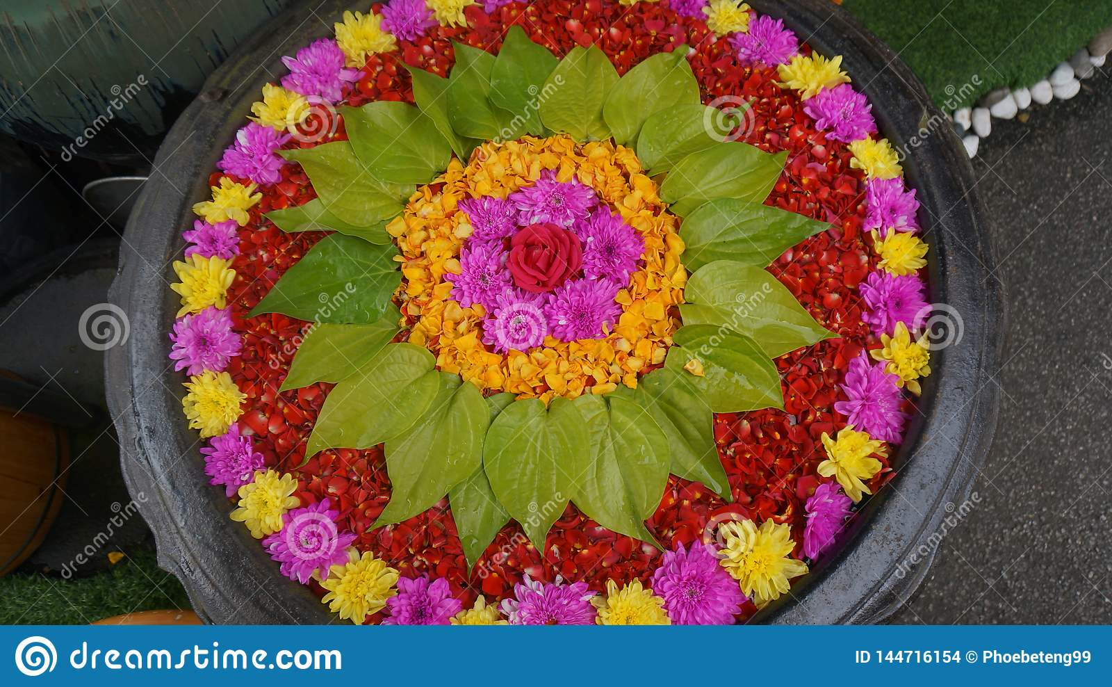 A Beautiful Pot Of Flowers For The Most Awesome People And God Stock Photo Image Of Celebrate Arrangement 144716154