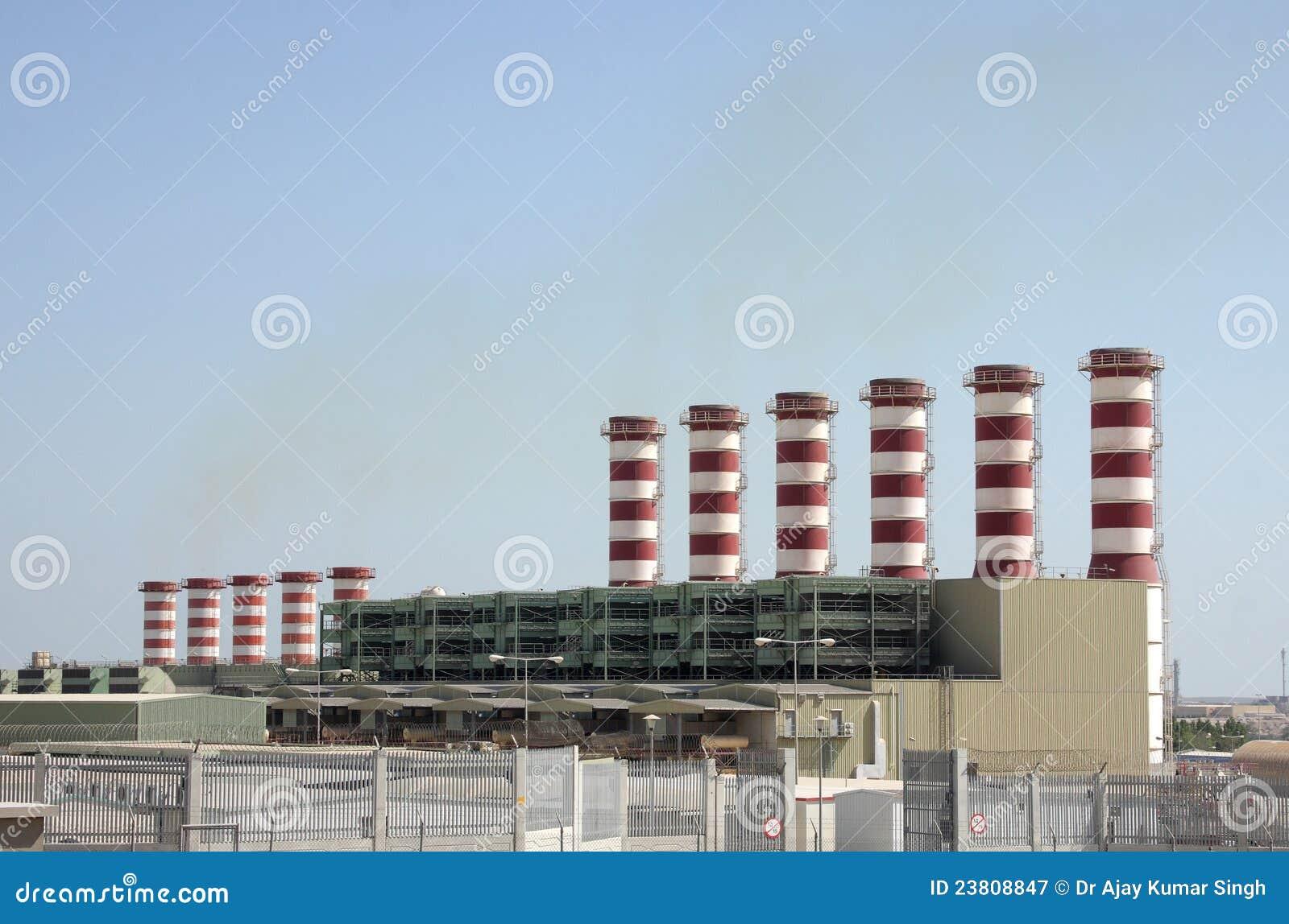 Beautiful power plant chimneys in Bahrain