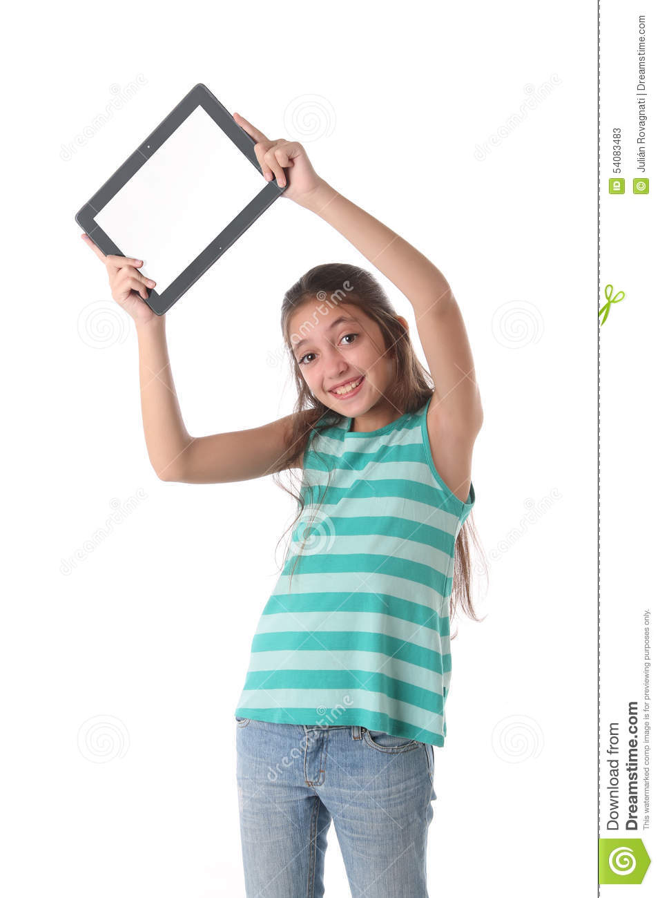 Teen using computer nutt