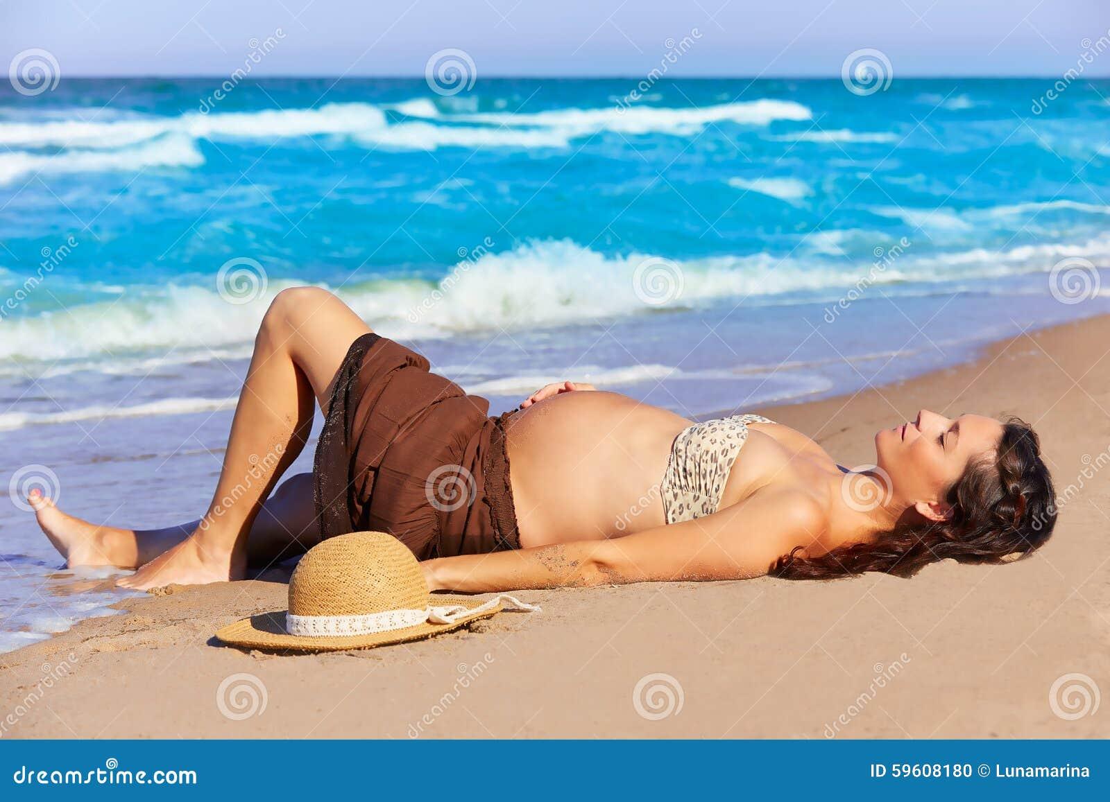Фото женщин беременных на пляже