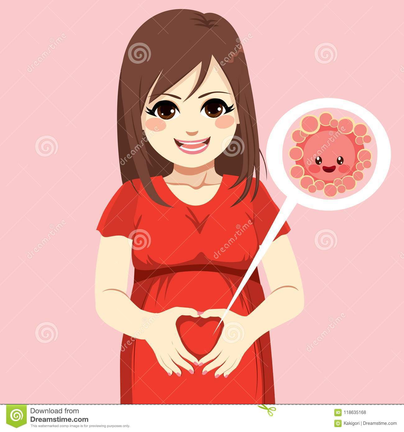Pregnant Egg Cell Love Hands Stock Vector Illustration Of Care