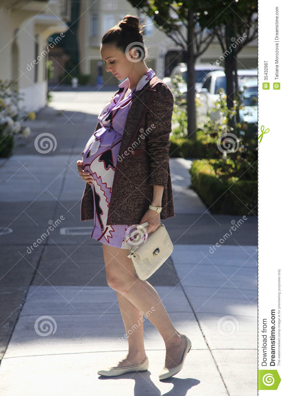 Beautiful Pregnant Woman Stock Image Image Of Outside