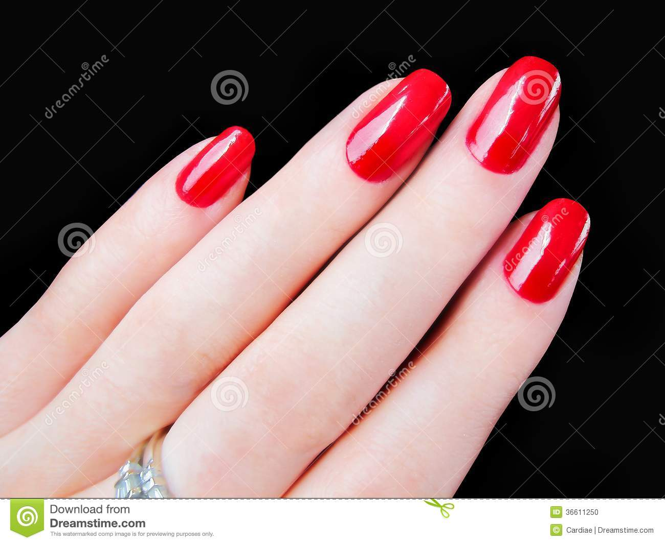 Download Beautiful Pretty Womans Hand Fingers Red Fingernails Nails Stock Photo