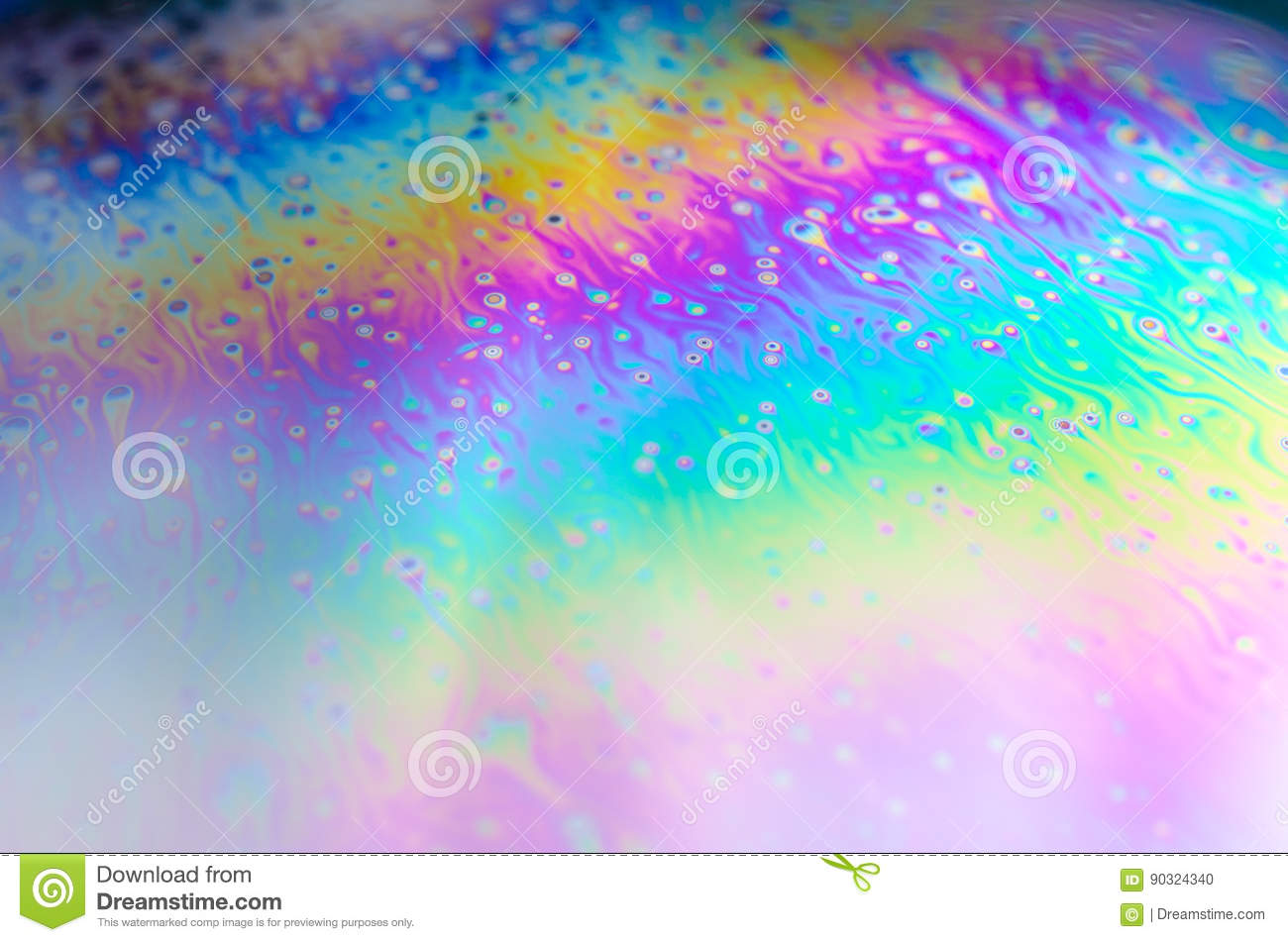 Beautiful psychedelic abstractions in soap foam