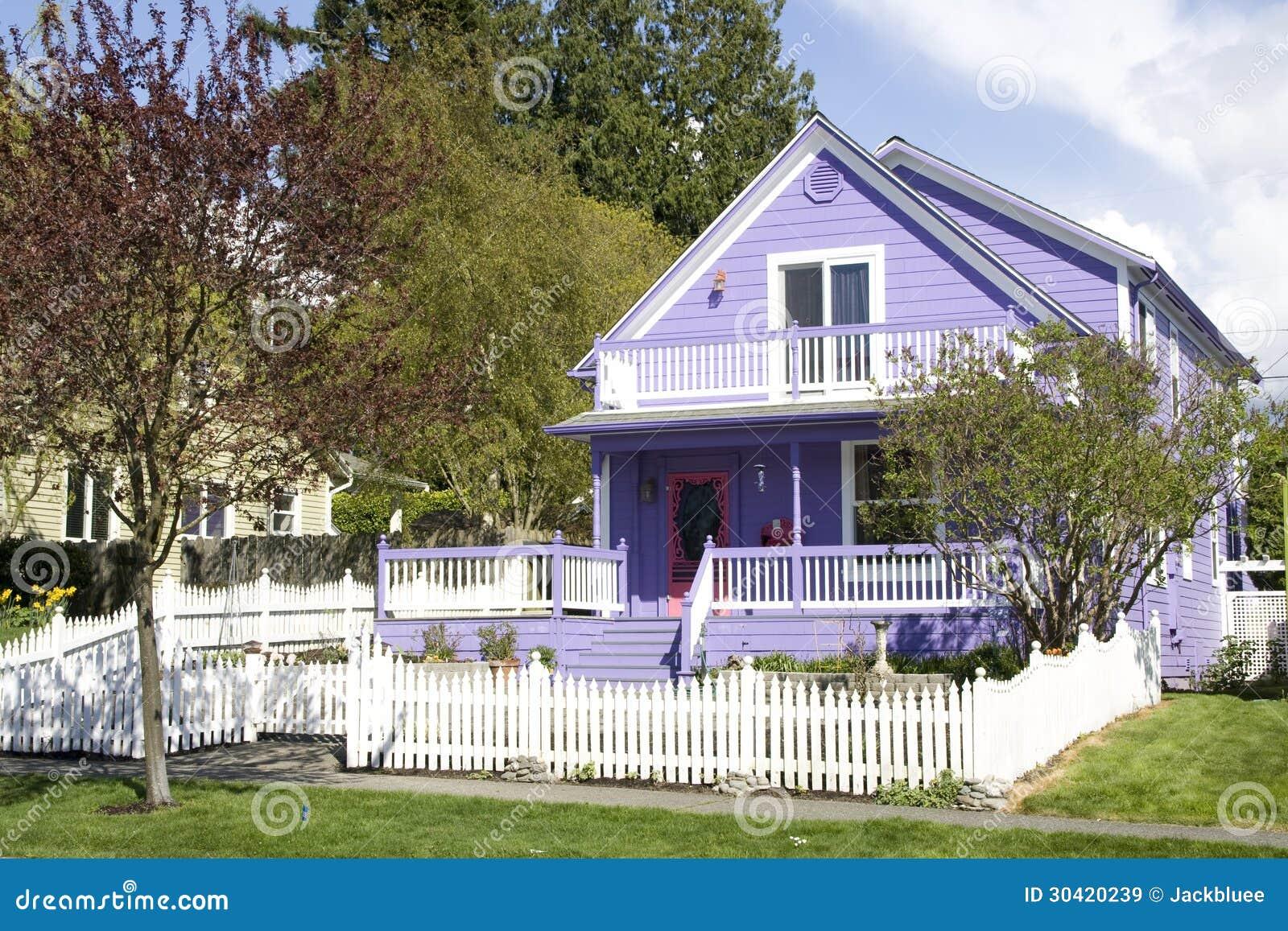Beautiful Purple House Royalty Free Stock Images - Image ...