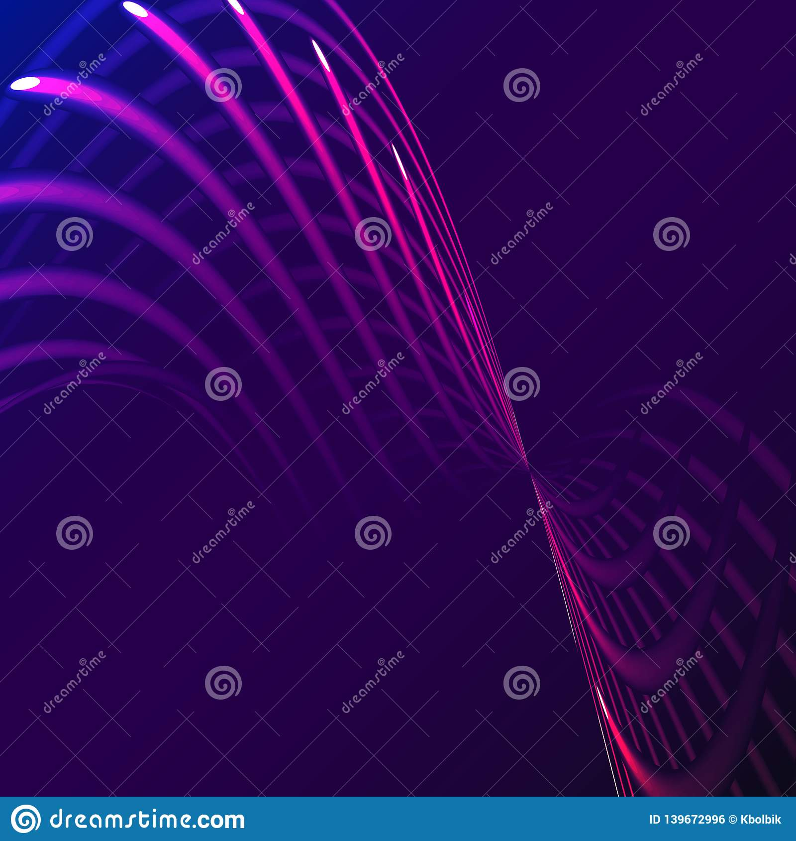 Beautiful Purple Pink Abstract Magical Energy Electric