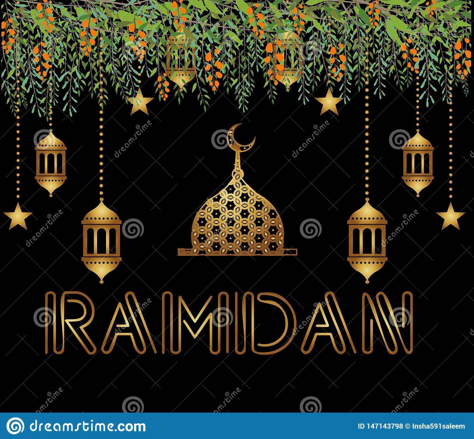 Beautiful Ramadan Kareem Vector Background Illustration