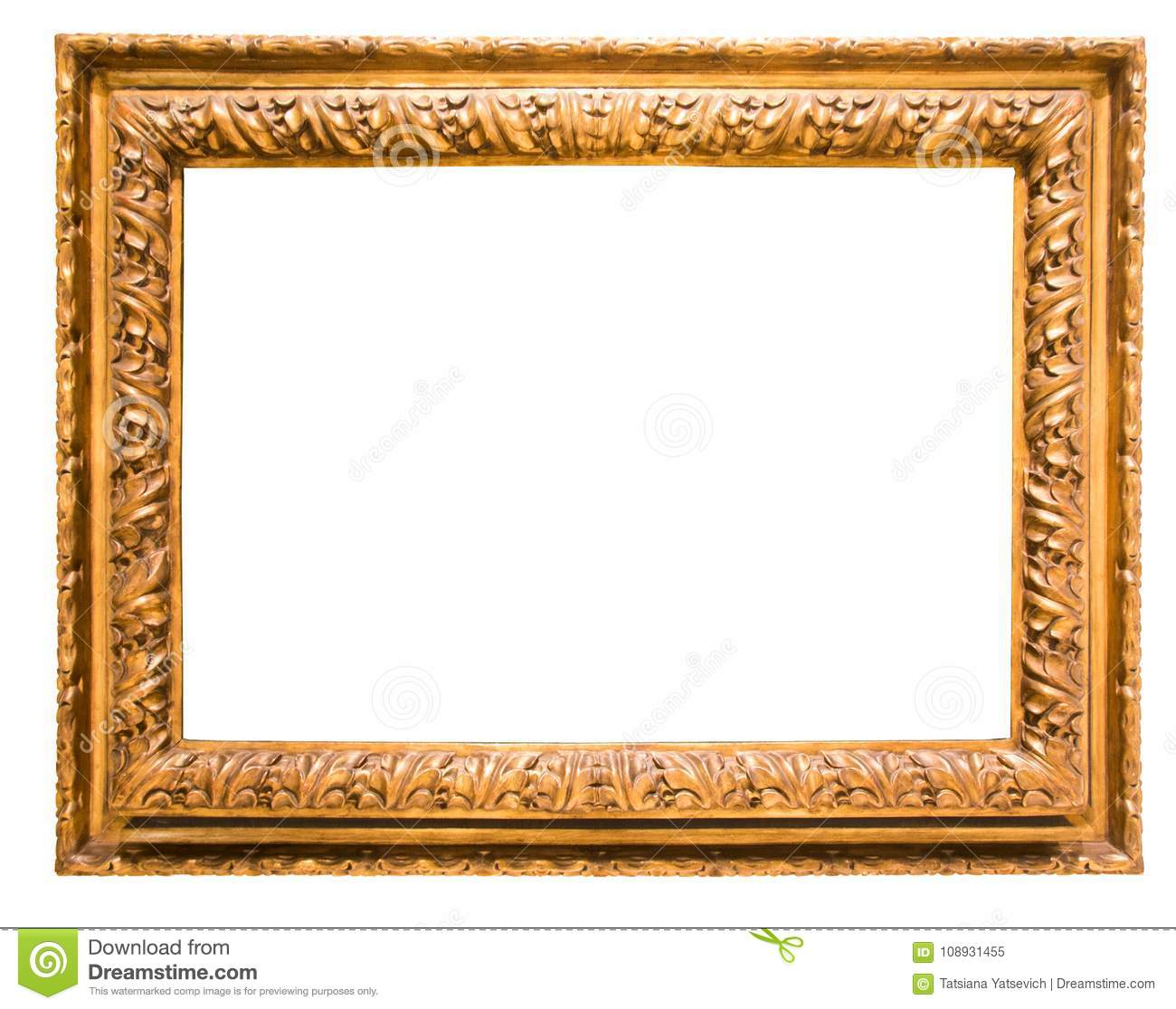 Rectangular Frame For A Mirror On Isolated Background Stock Image ...