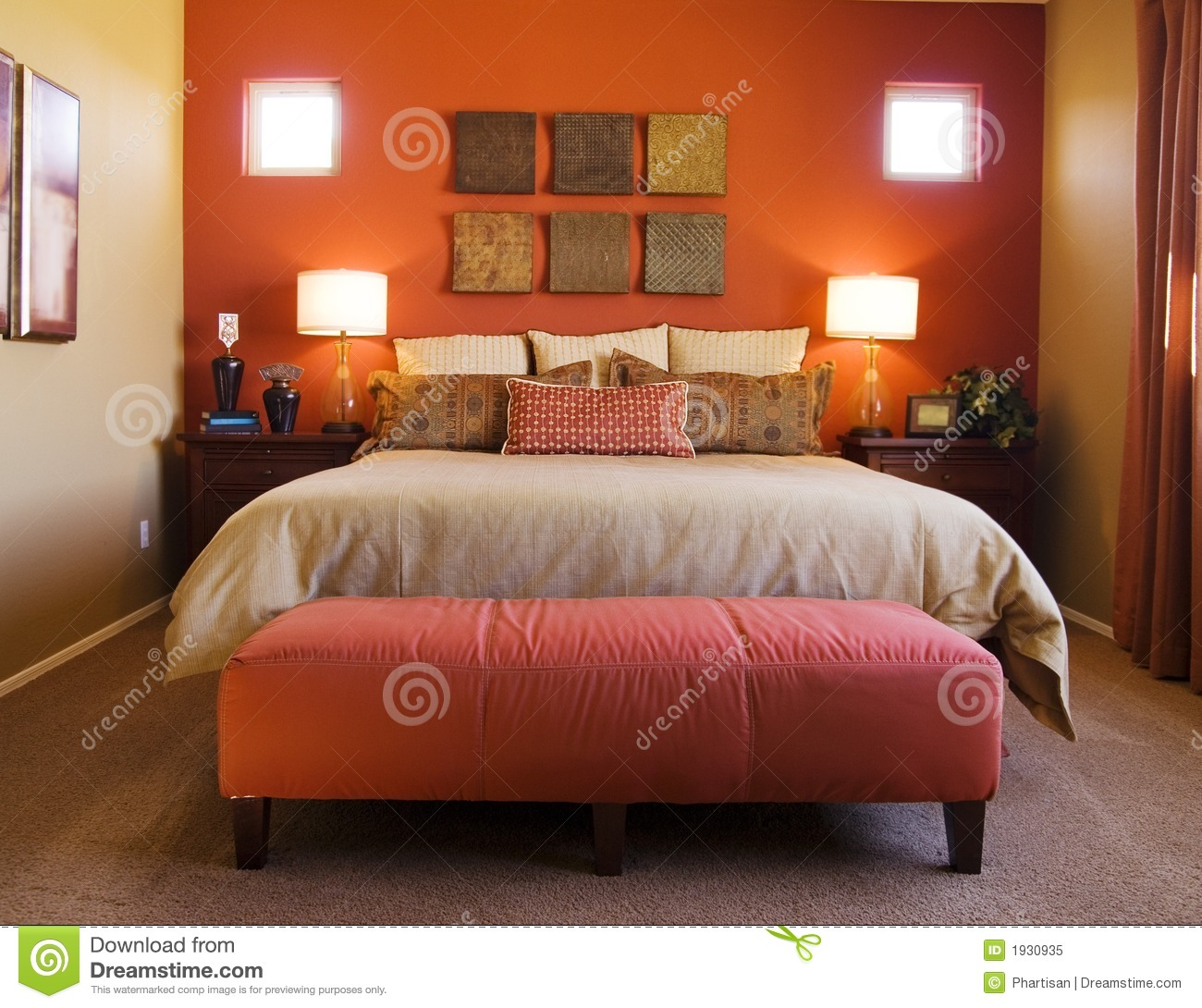 Beautiful red bedrooms