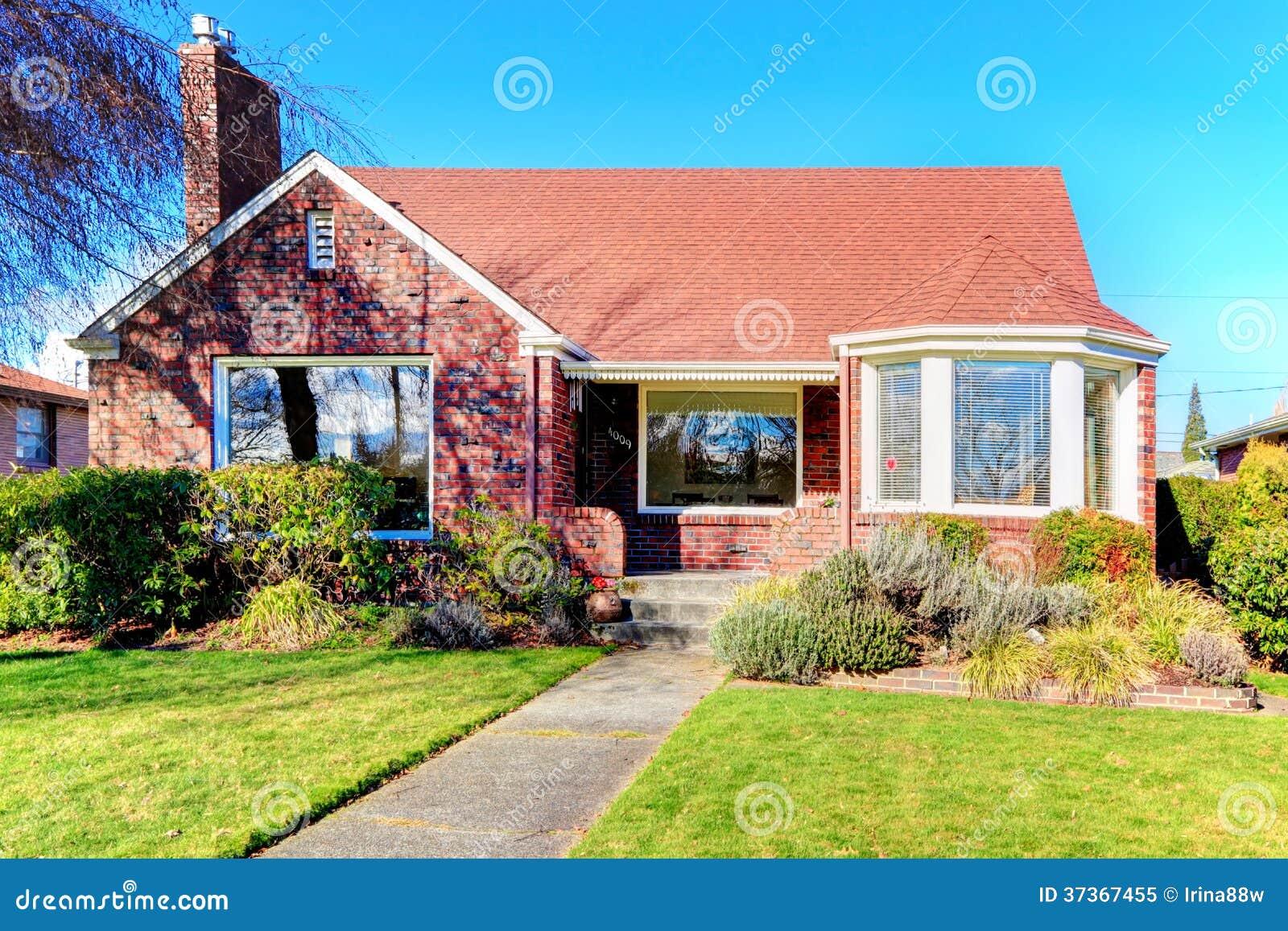 Beautiful Red Brick House Royalty Free Stock Photo - Image ...