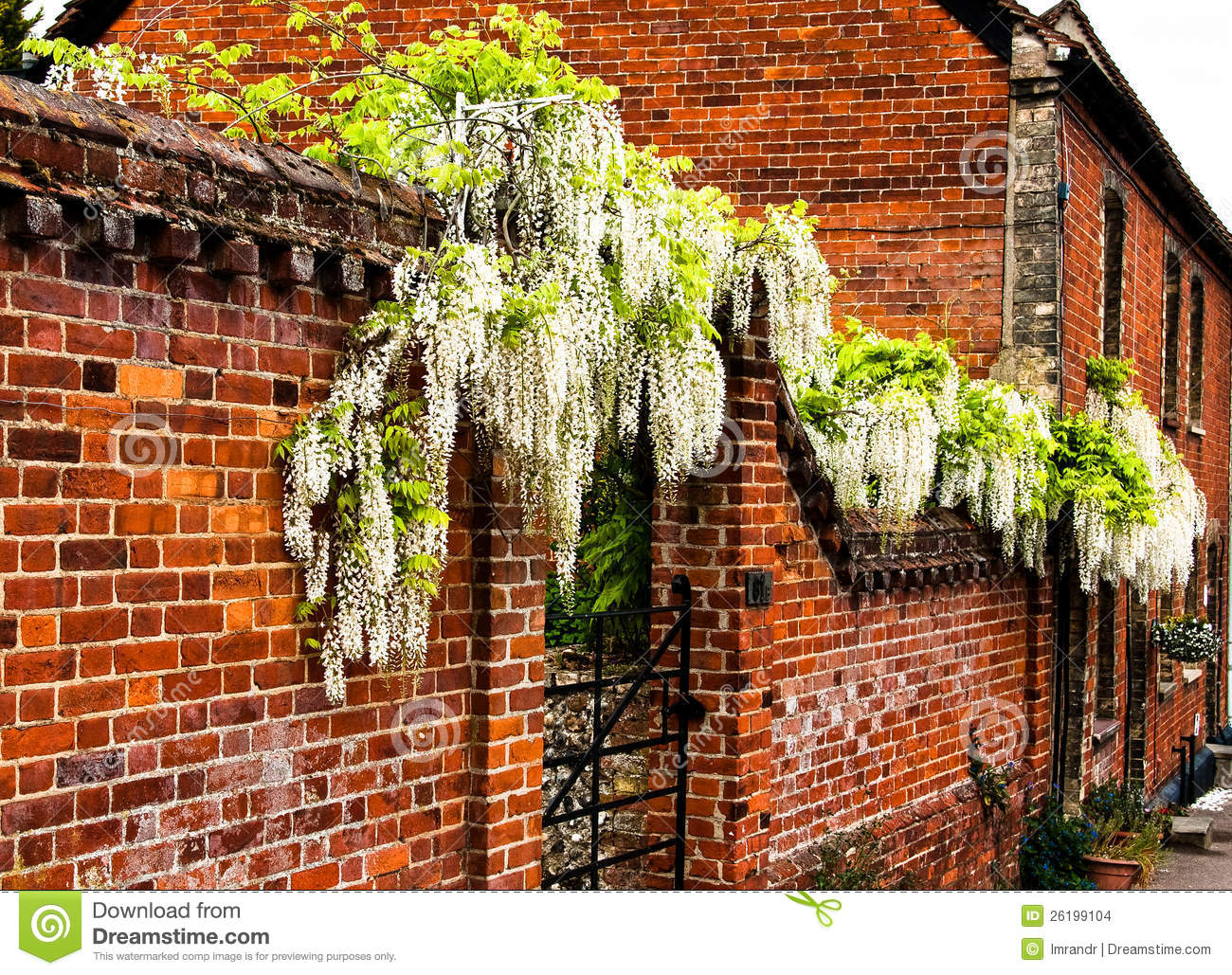 Beautiful Red Brick Wall Stock Images Image 26199104
