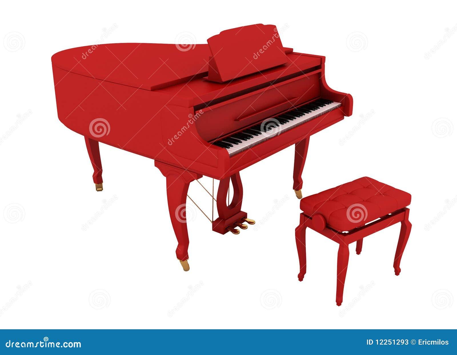 Beautiful Red Grand Piano Stock Photos - Image: 12251293