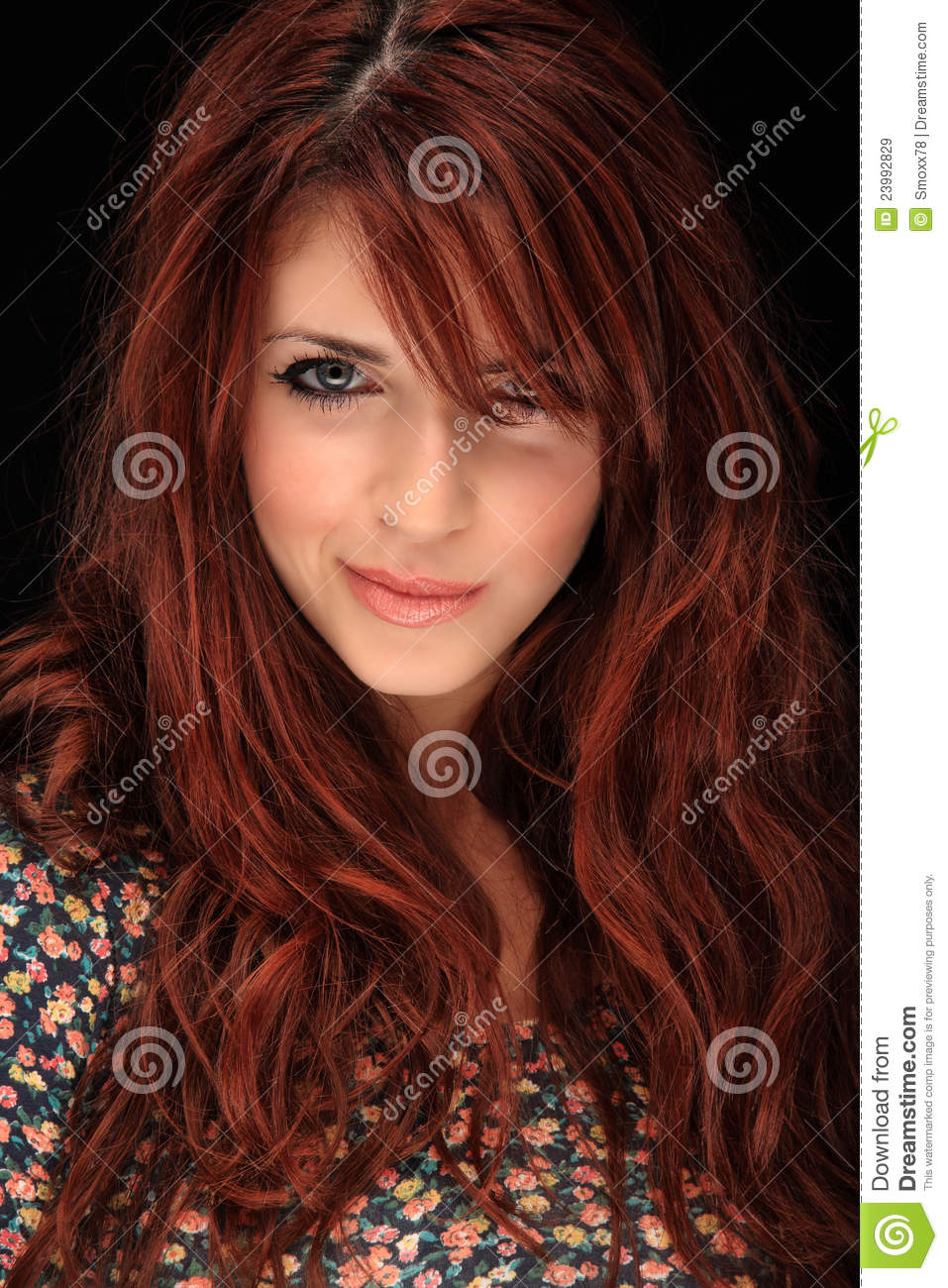 Beautiful Red Hair Girl Stock Image Image Of Studio -7255