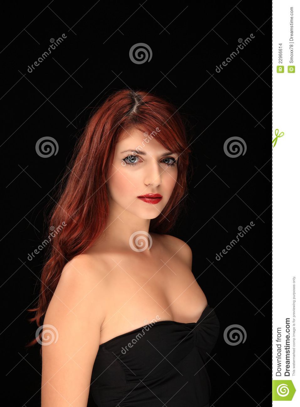 young girl with red hair stock photo image of forest beautiful red hair young girl stock photo image of happy