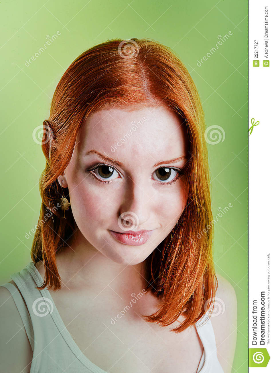 Beautiful Red Haired Girl In A Role Of Elf Royalty Free