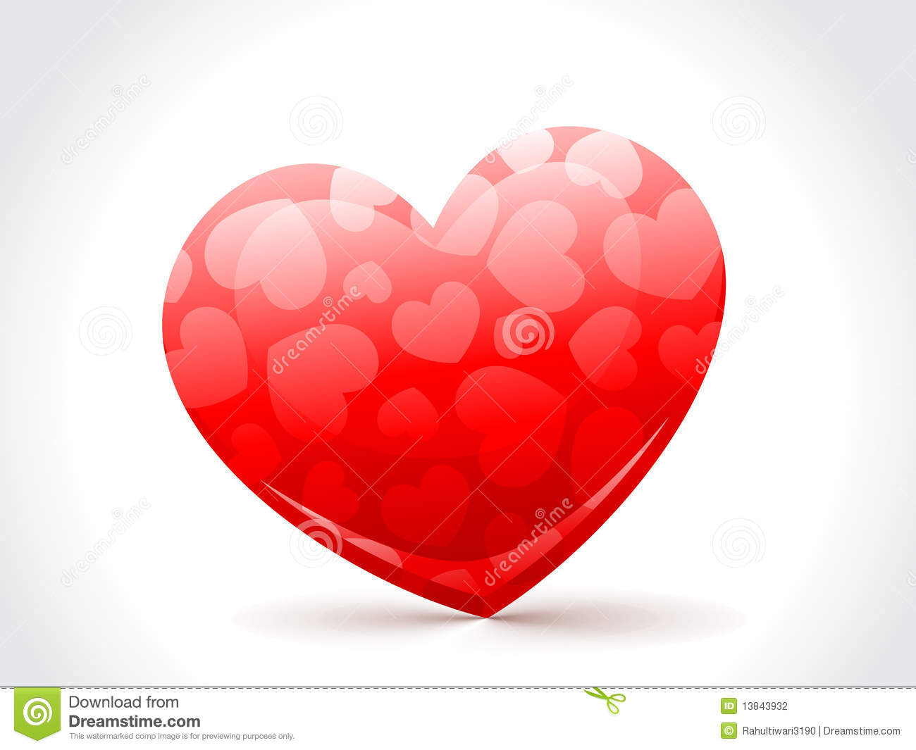 A Beautiful Red Heart To Love Stock Vector - Image: 13843932