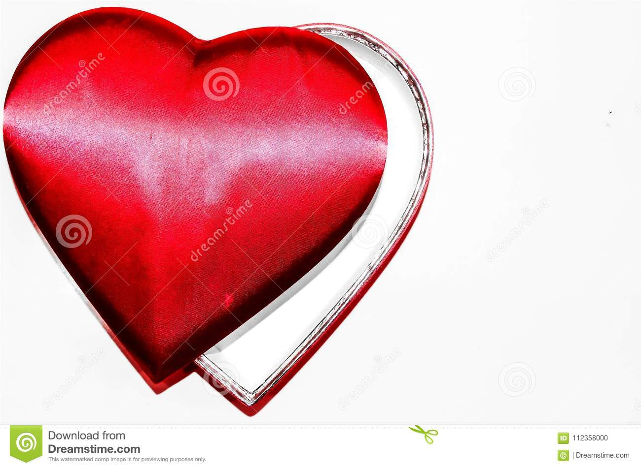 beautiful red heart on white background, love stock photo - image of