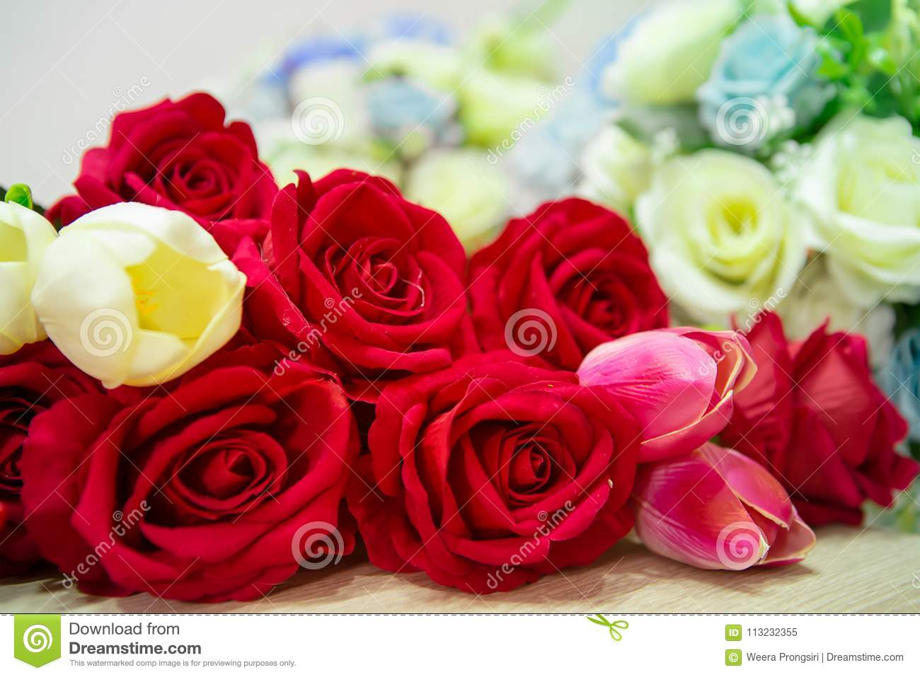 Rose Flower Bouquet Bunch Of Flowers Single Rose Single Fl Stock Image Image Of Gift Passion 113232355
