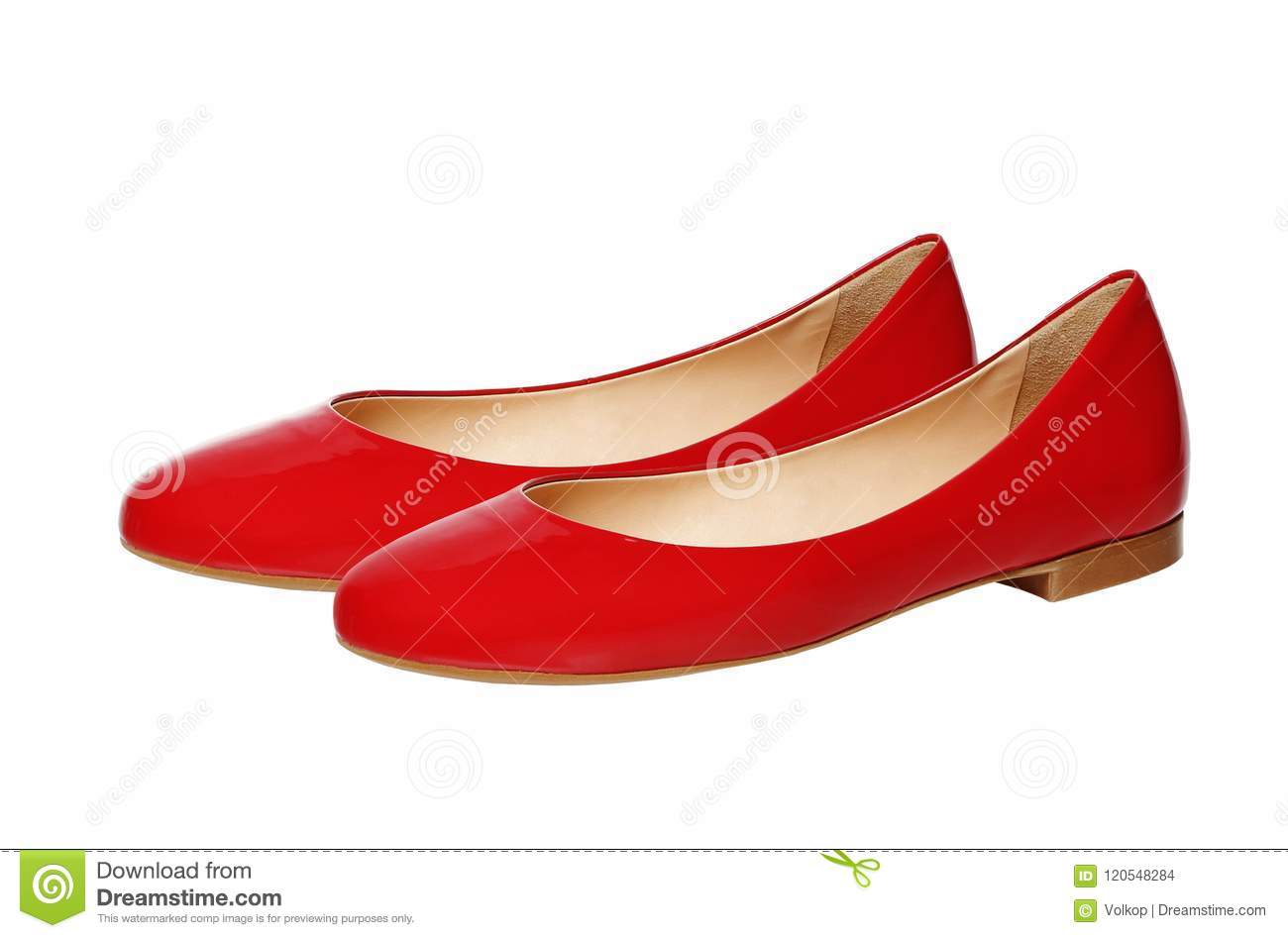 32e9450404d Beautiful Red Woman Shoes Isolated On White Stock Photo - Image of ...
