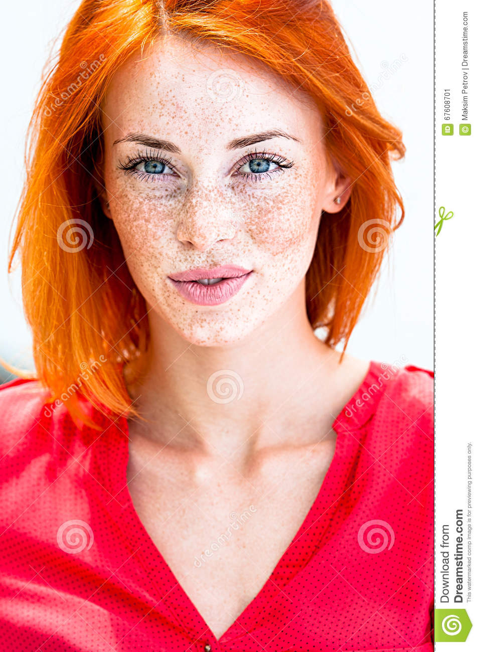 Beautiful Redhead Freckled Woman Smiling Seductive Biting  : beautiful redhead freckled woman smiling seductive biting lips her 67608701 from www.dreamstime.com size 955 x 1300 jpeg 192kB