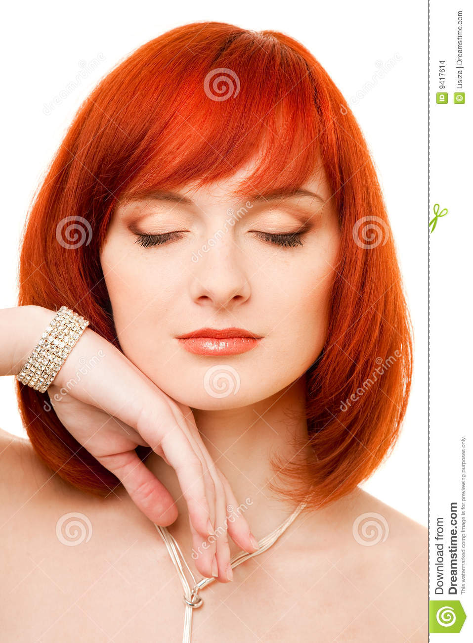 Beautiful Redhead Woman Stock Images Image 9417614