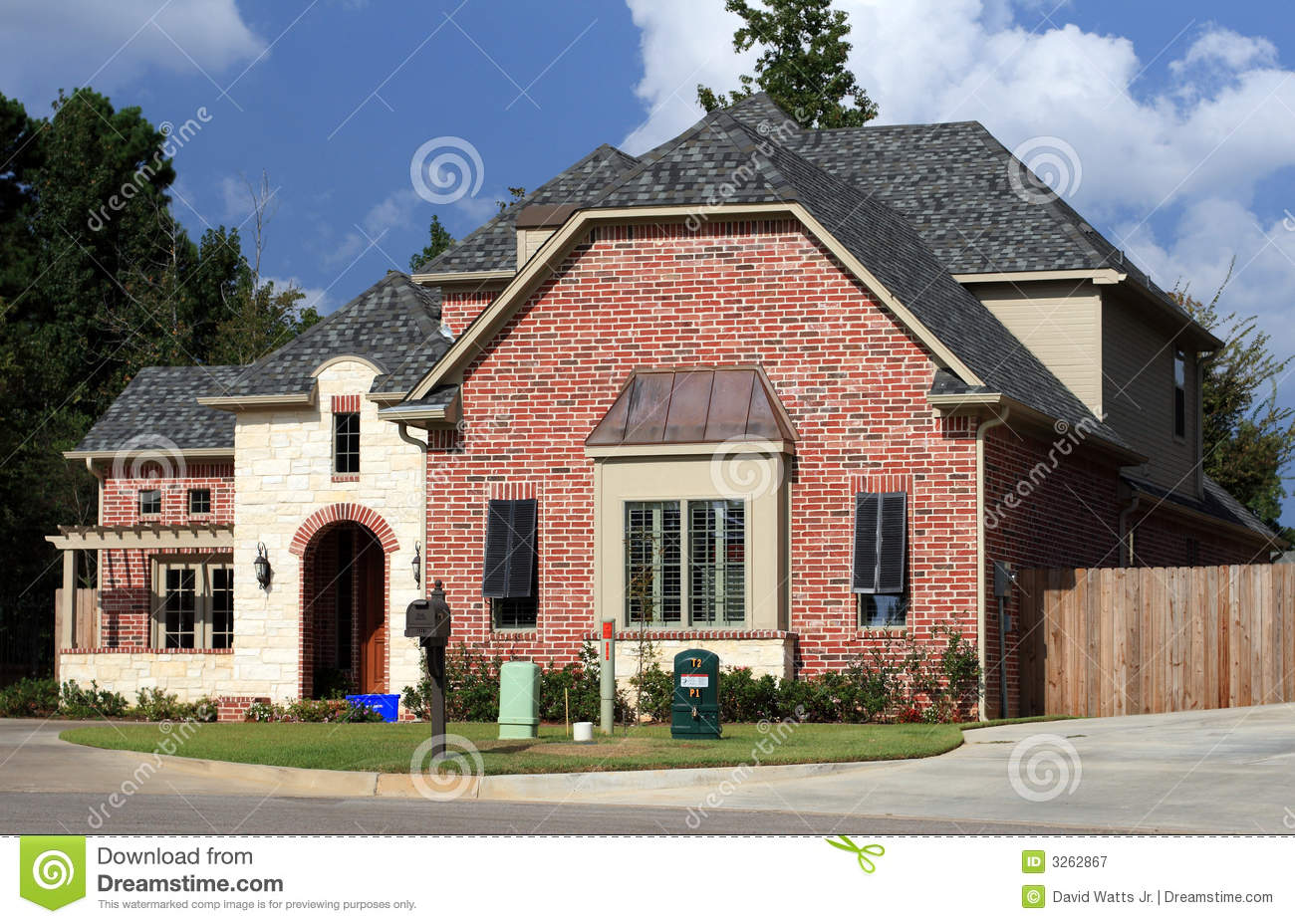 Beautiful residential house royalty free stock photography for Beautiful residential houses