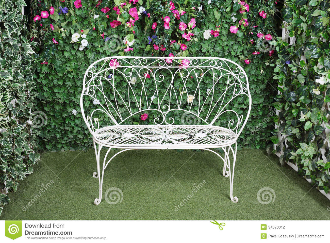 Beautiful Retro Bench Stock Photography Image 34670012