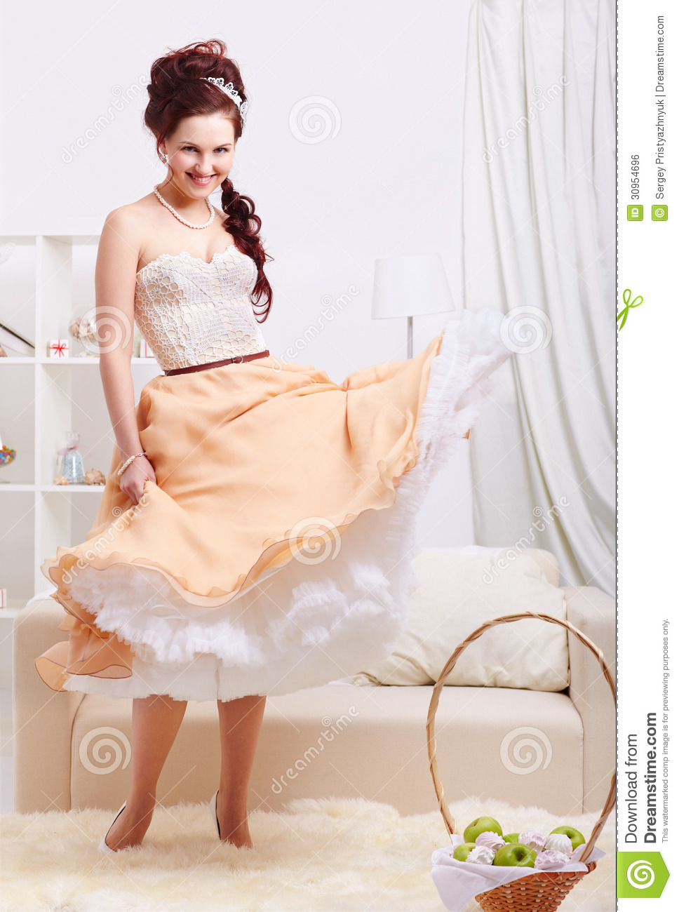 Beautiful Retro Girl Royalty Free Stock Image Image