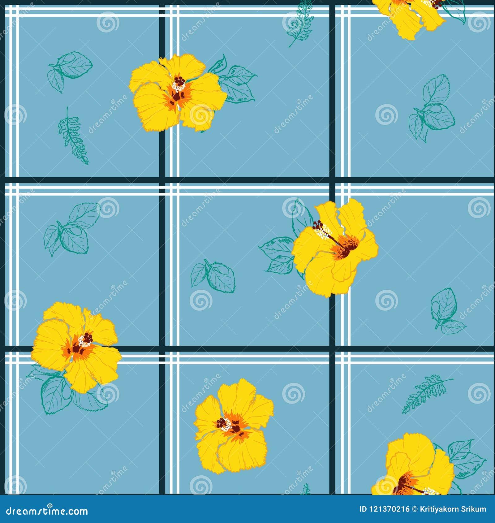 Beautiful Retro Seamless Pattern Delicate And Beautiful Wild Bl ...
