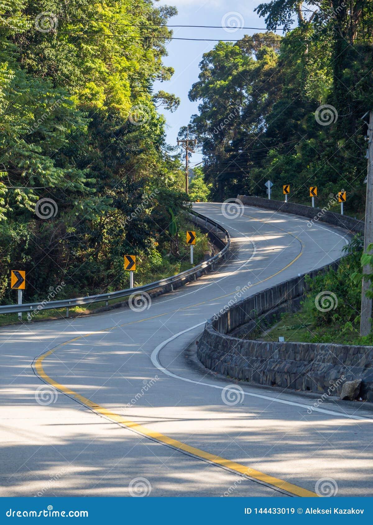 On The Beautiful Roads Of Koh Phangan Stock Image Image Of Landscape Sunlight 144433019