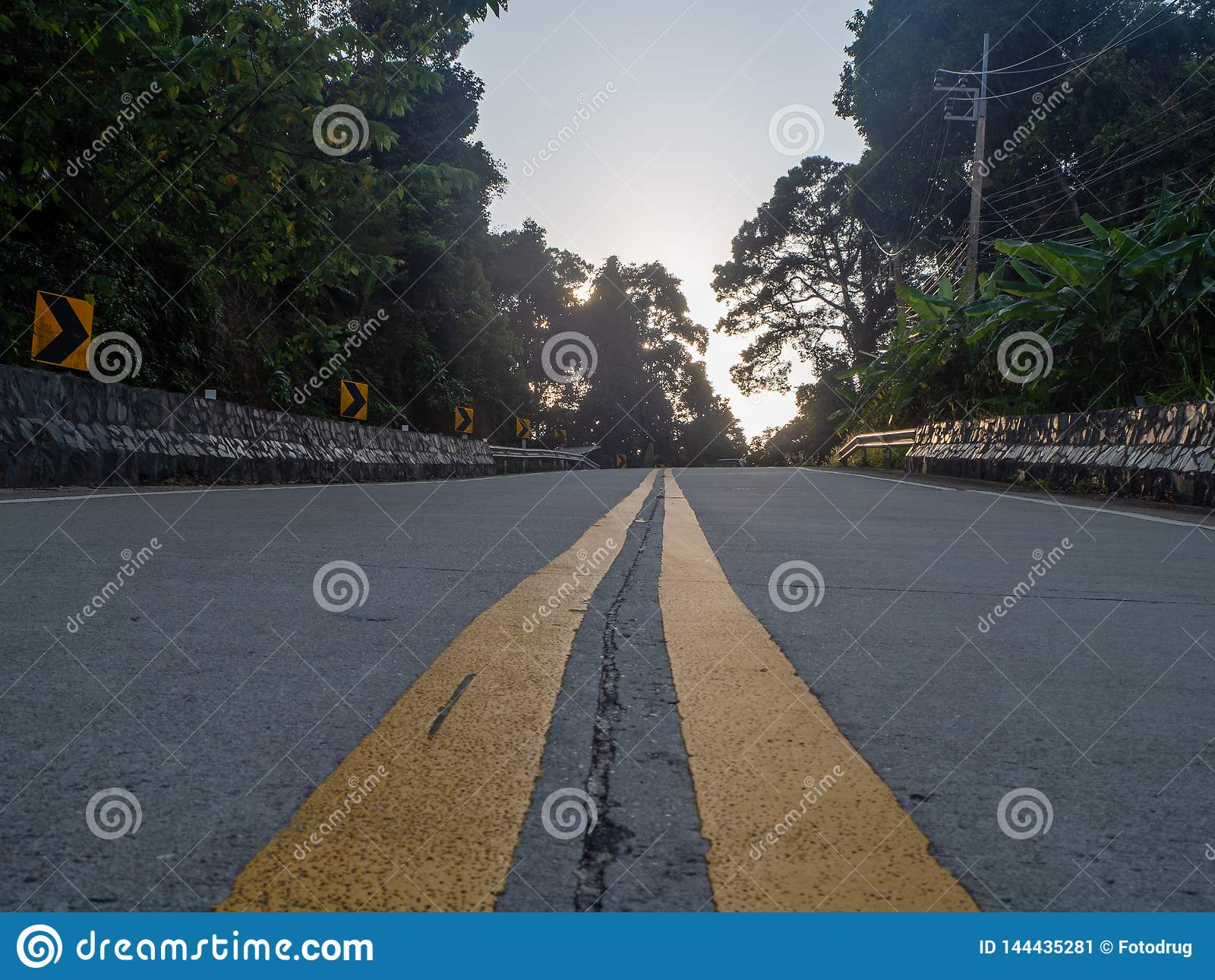 On The Beautiful Roads Of Koh Phangan Stock Image Image Of Cloud Path 144435281