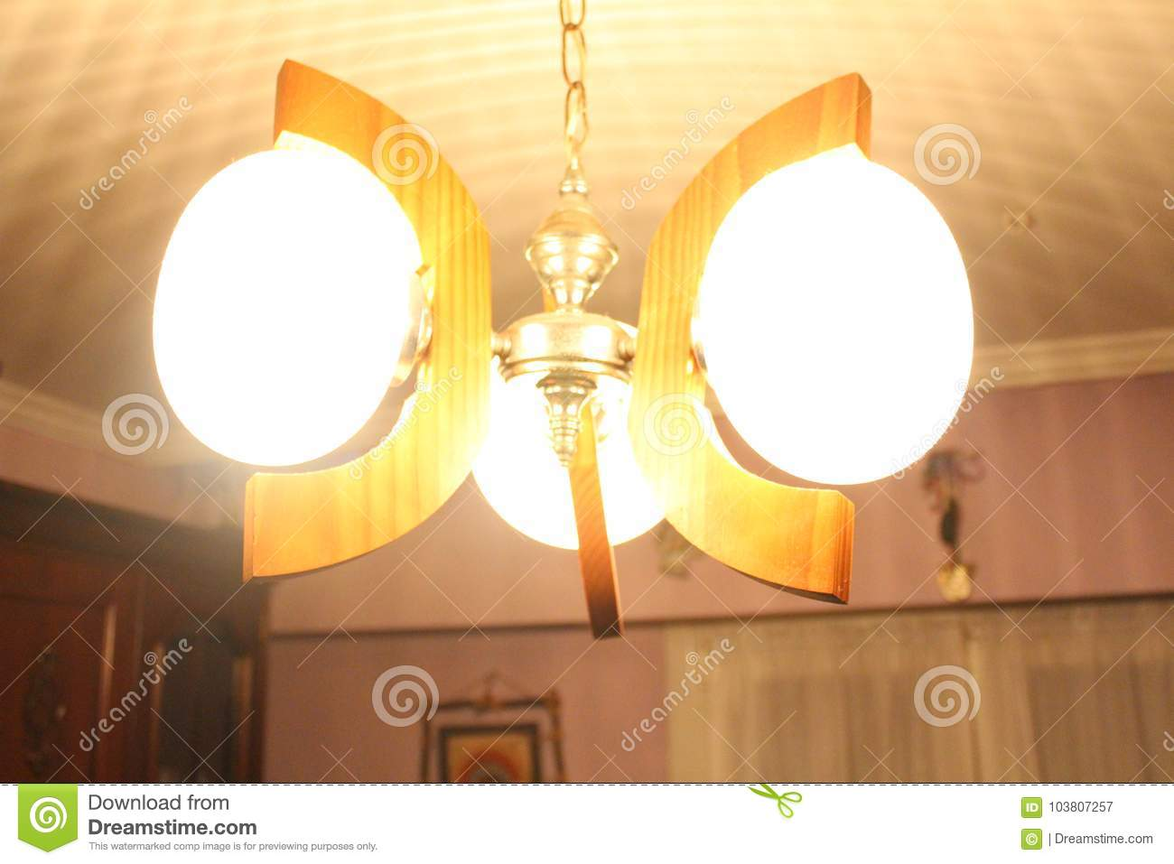 Beautiful Roof Hanging Light For Indoor Home Decoration Stock Image ...