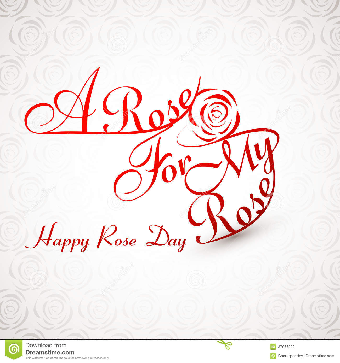 Beautiful A Rose For My Rose Happy Rose Day Stylish Text Royalty ...